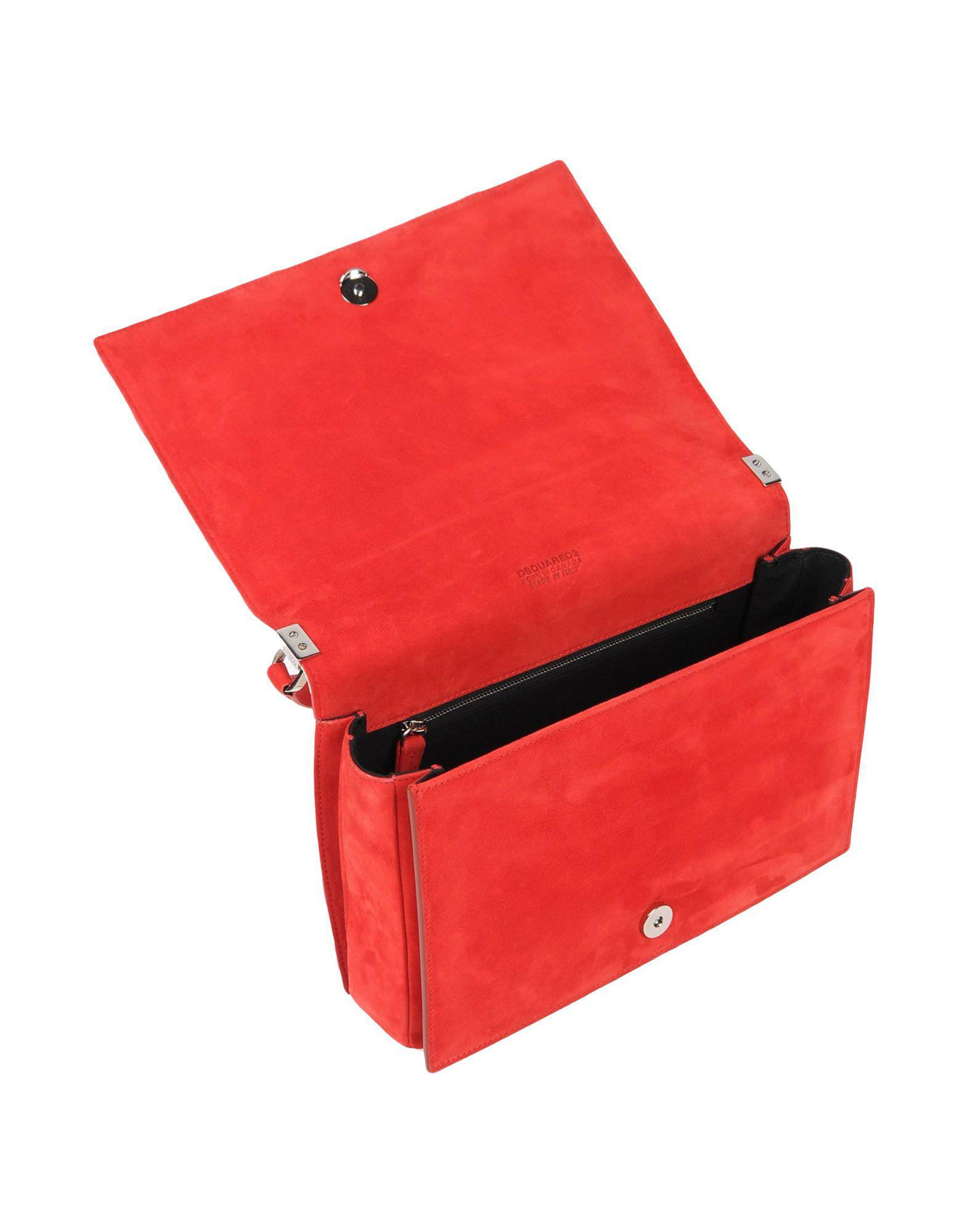 DSquared² Wildleder Handtaschen in Rot hv95B