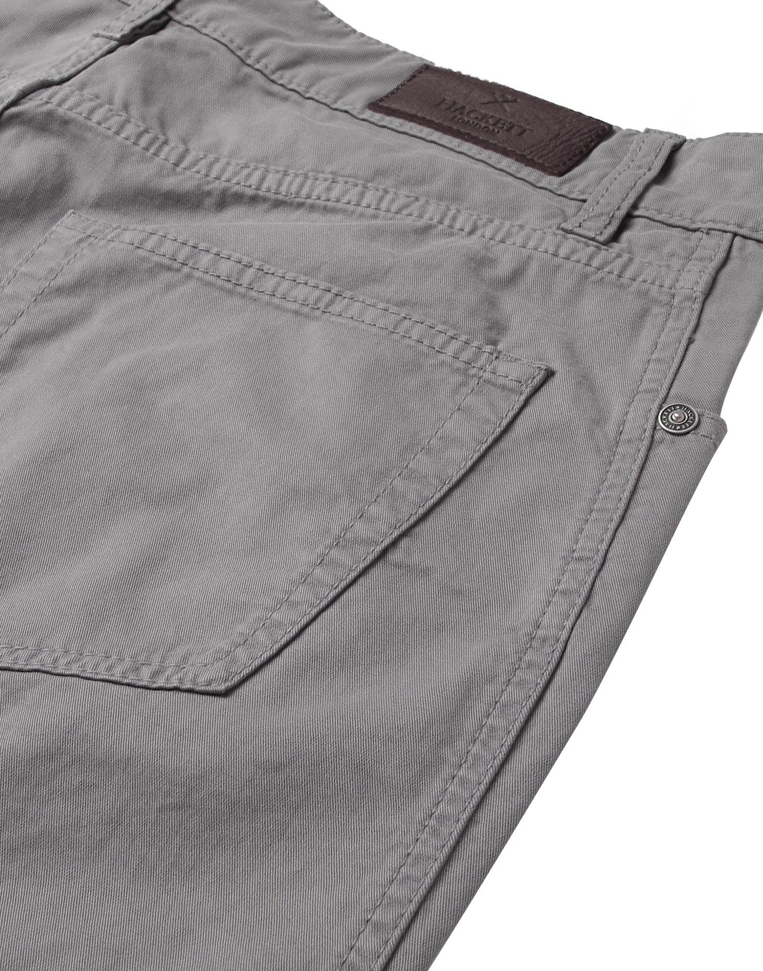 Hackett Leather Casual Pants in Lead (Grey) for Men