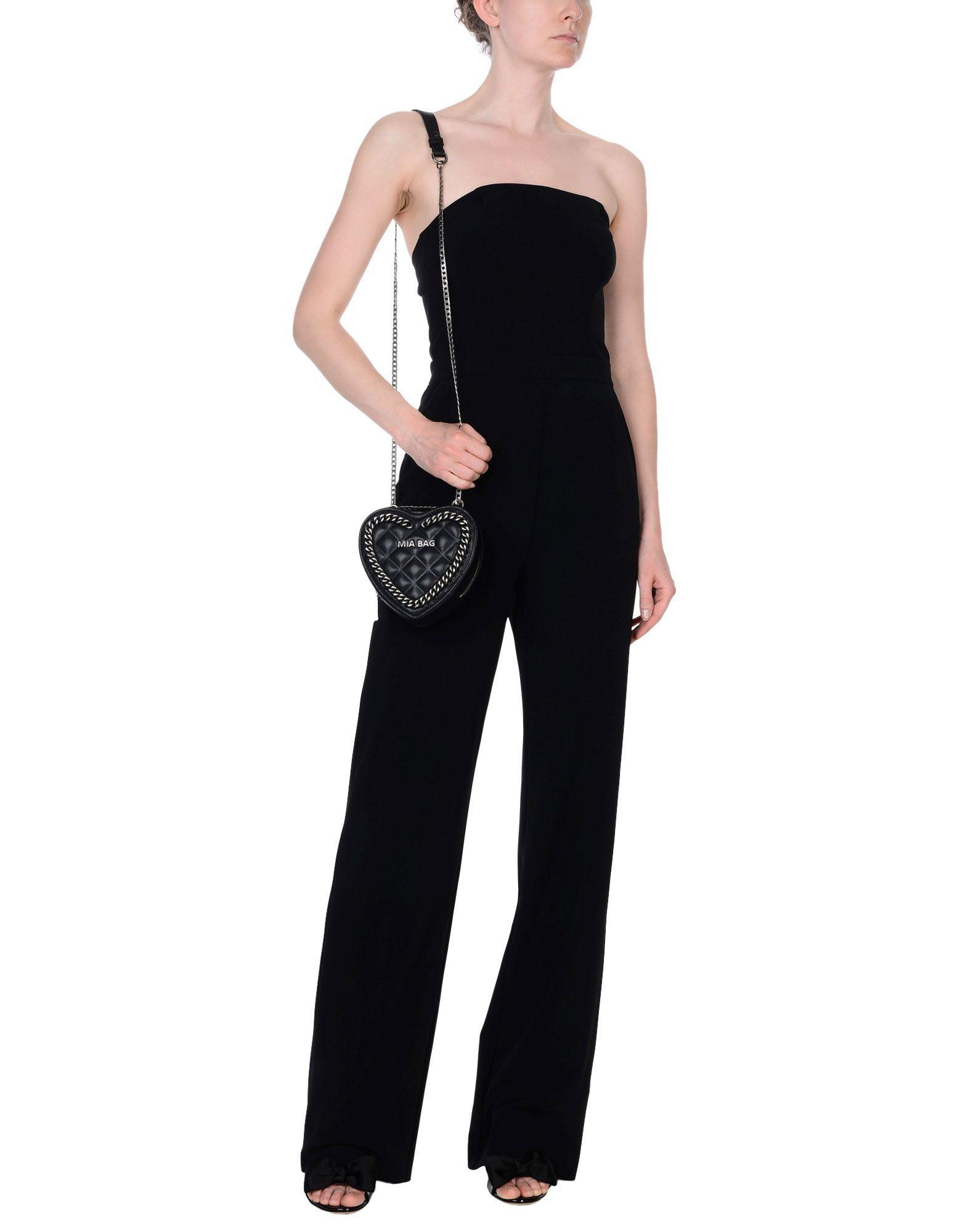 Mia Bag Leather Cross-body Bag in Black