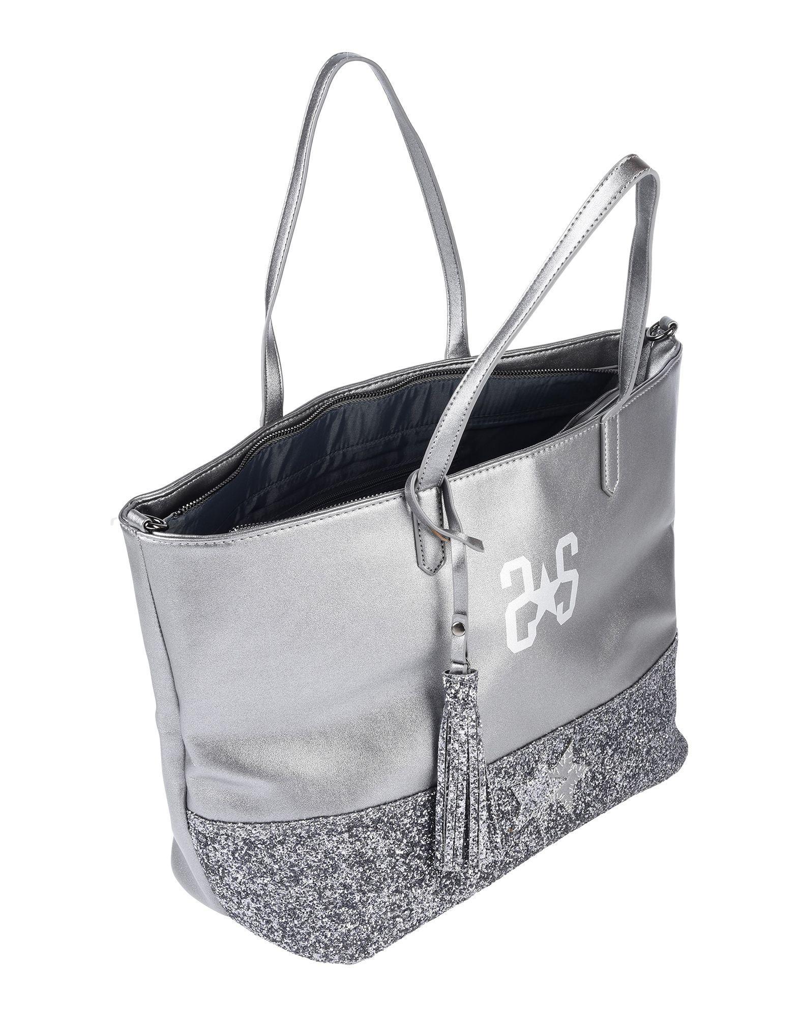 2Star Handtaschen in Grau Dh0md