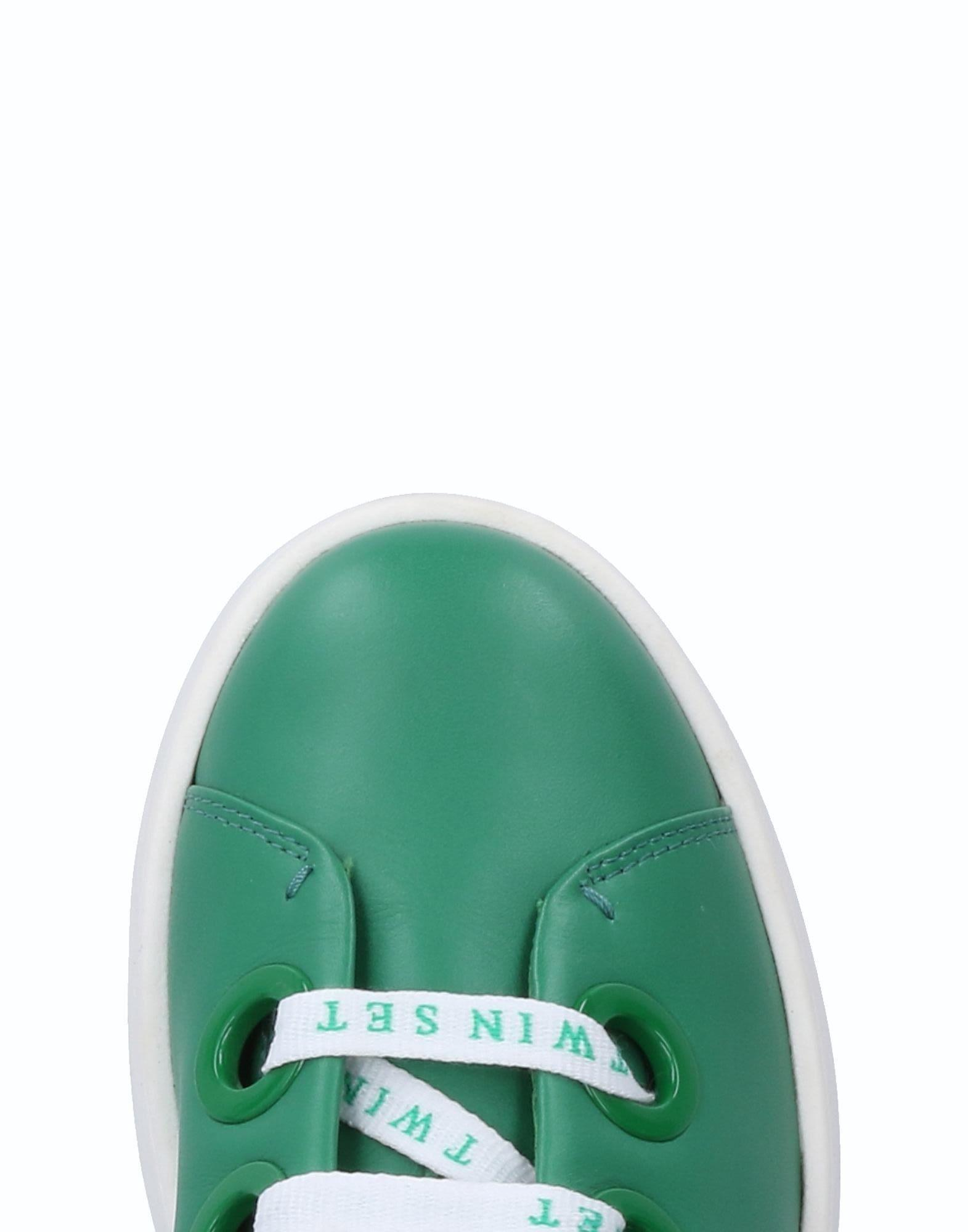 Twin Set Leather Low-tops & Sneakers in Green
