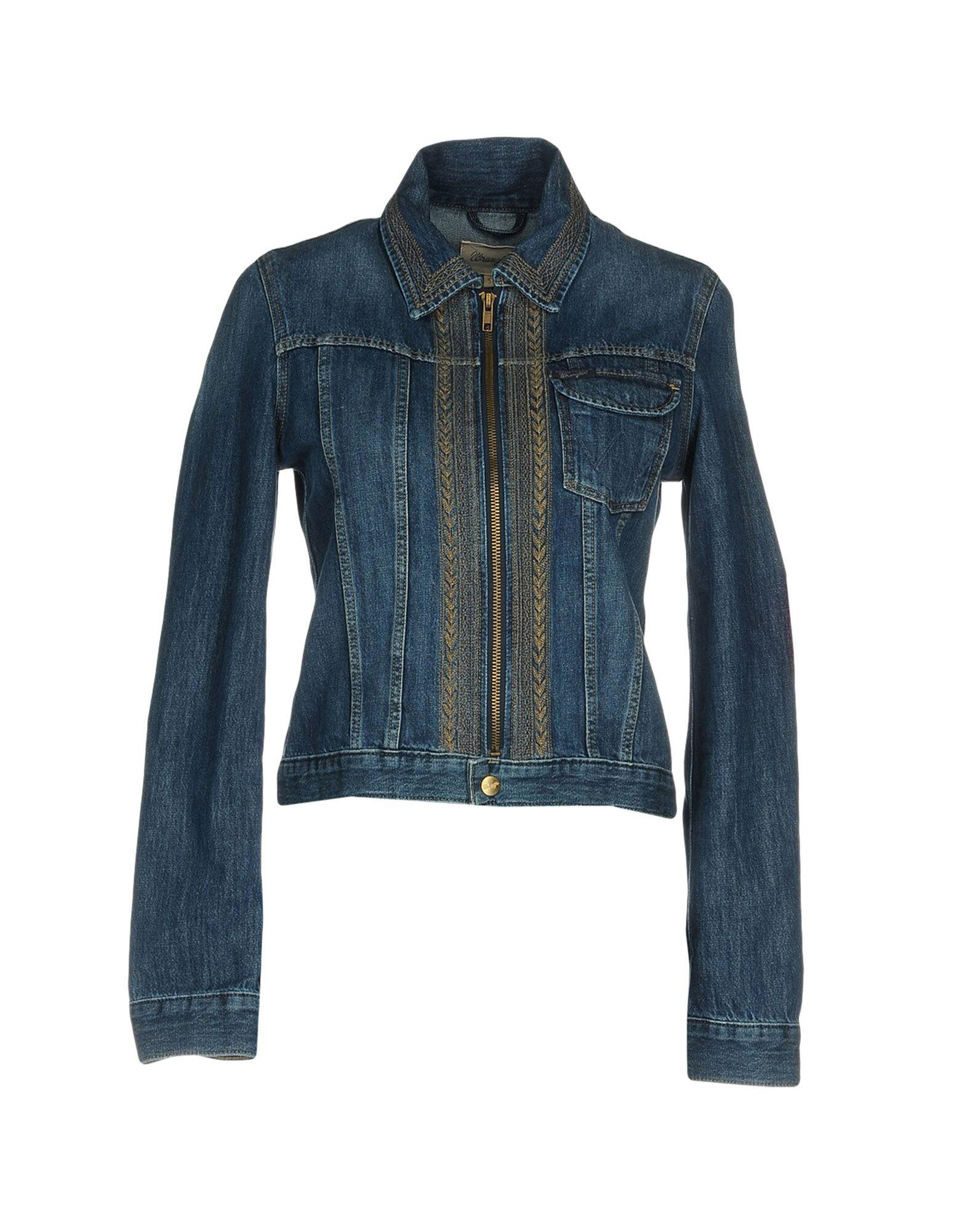 Wrangler denim outerwear in blue lyst for Wrangler denim shirts uk
