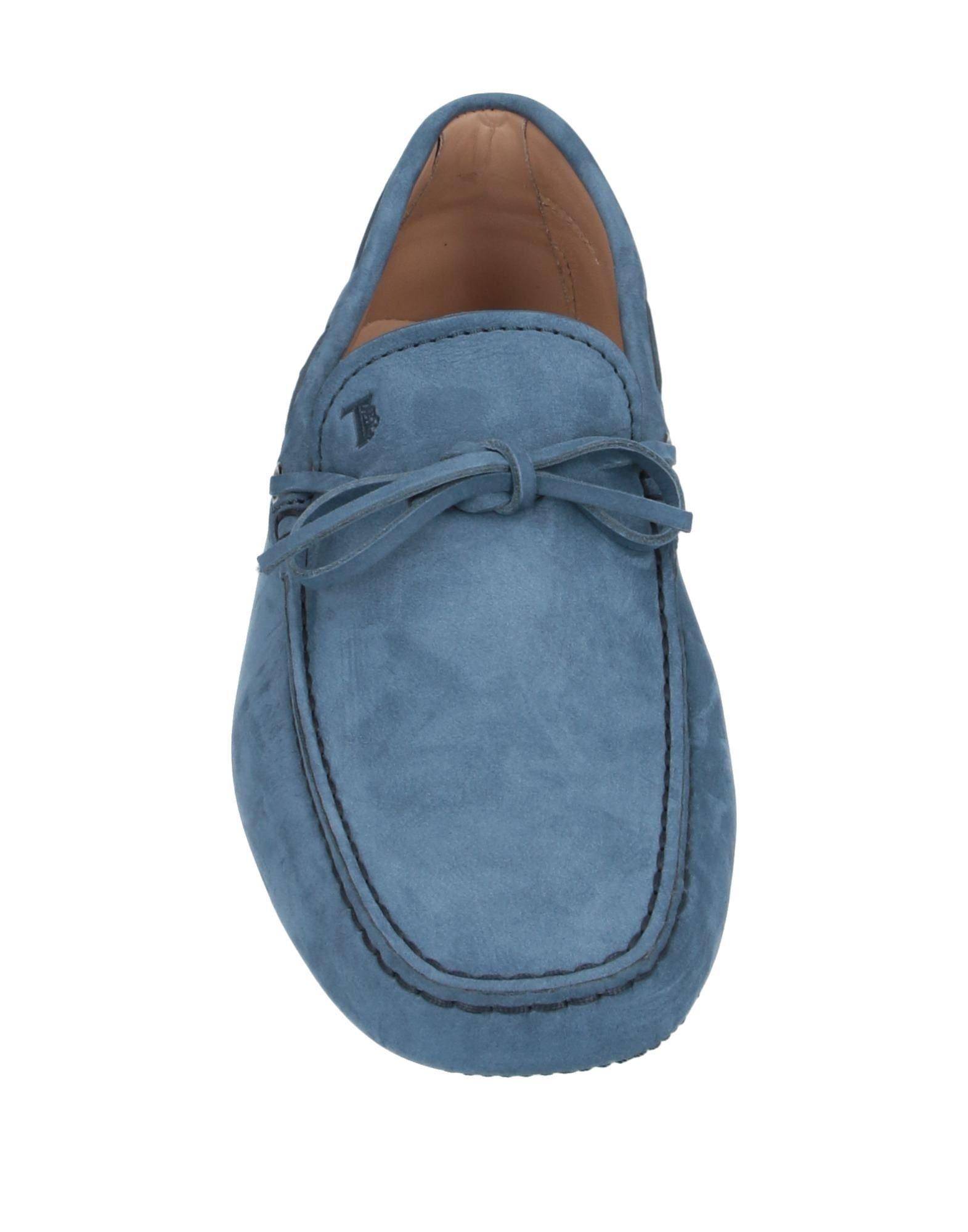 Mocasines Tod's de Cuero de color Azul para hombre