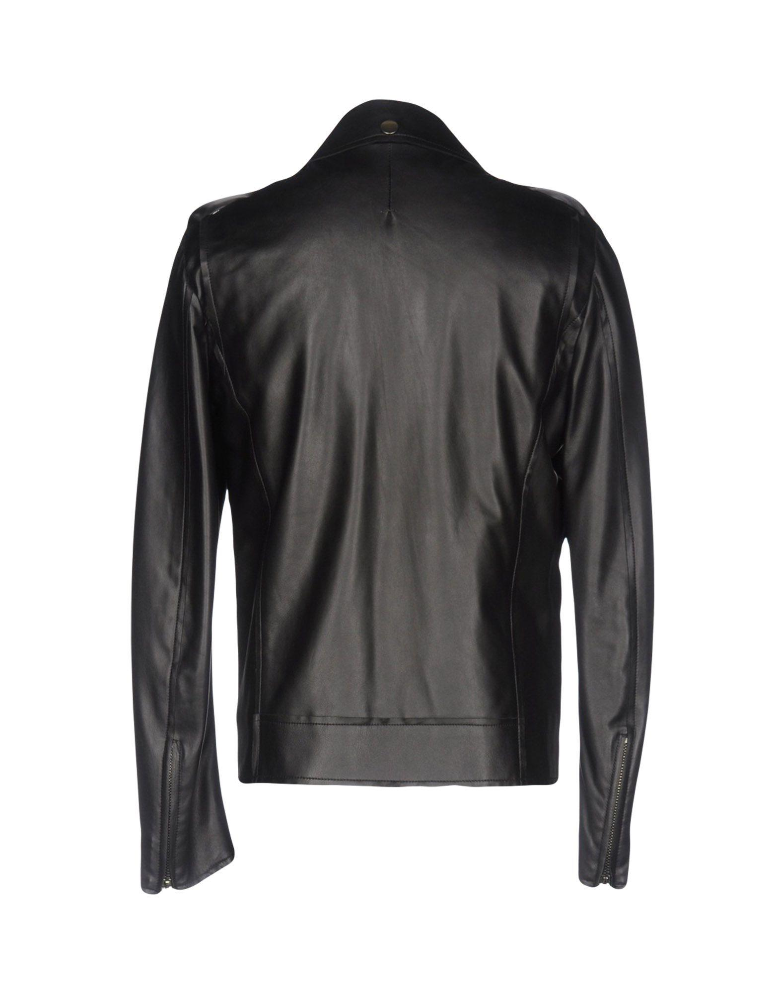 CoSTUME NATIONAL Leather Jacket in Black for Men