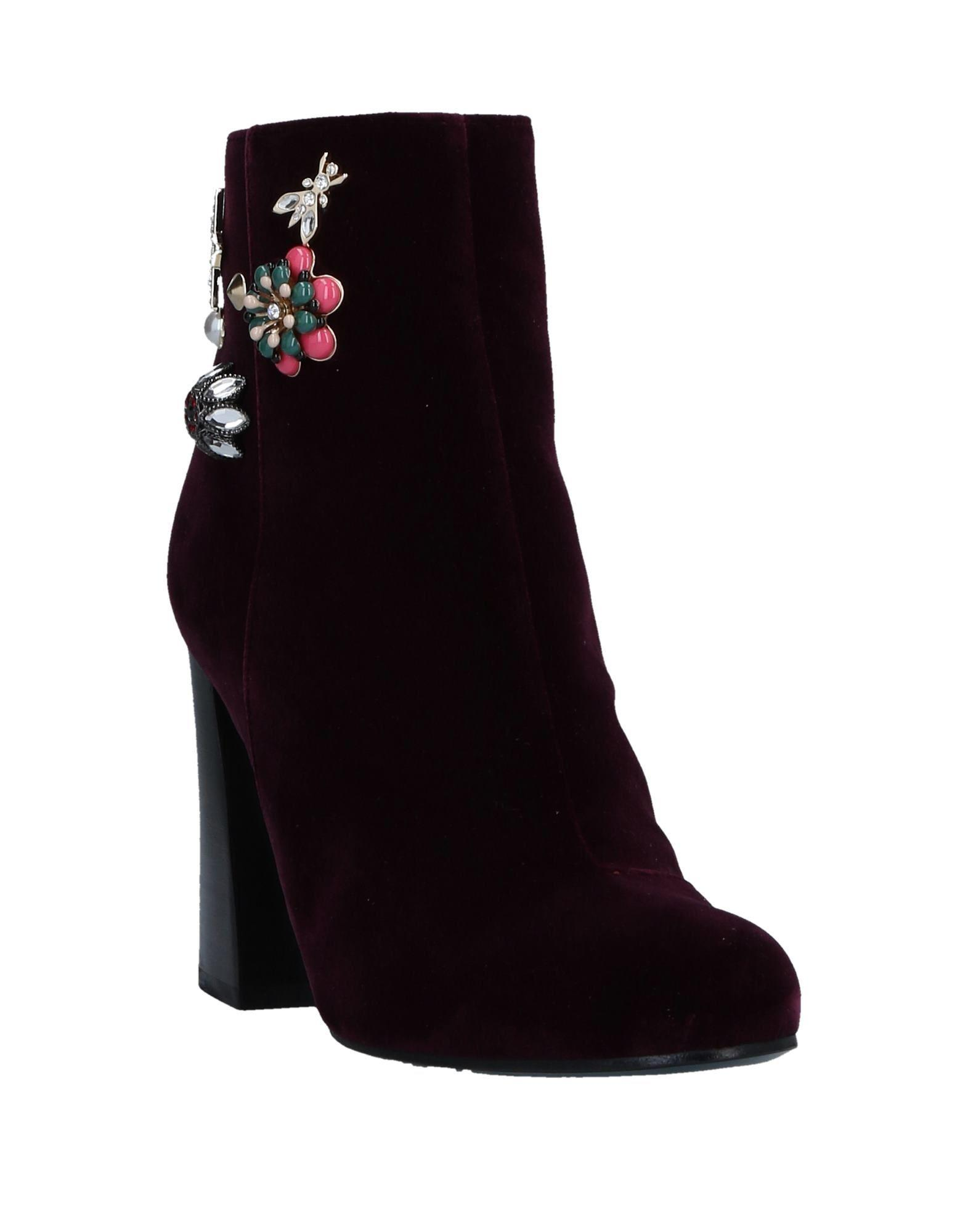 Patrizia Pepe Velvet Ankle Boots in Purple