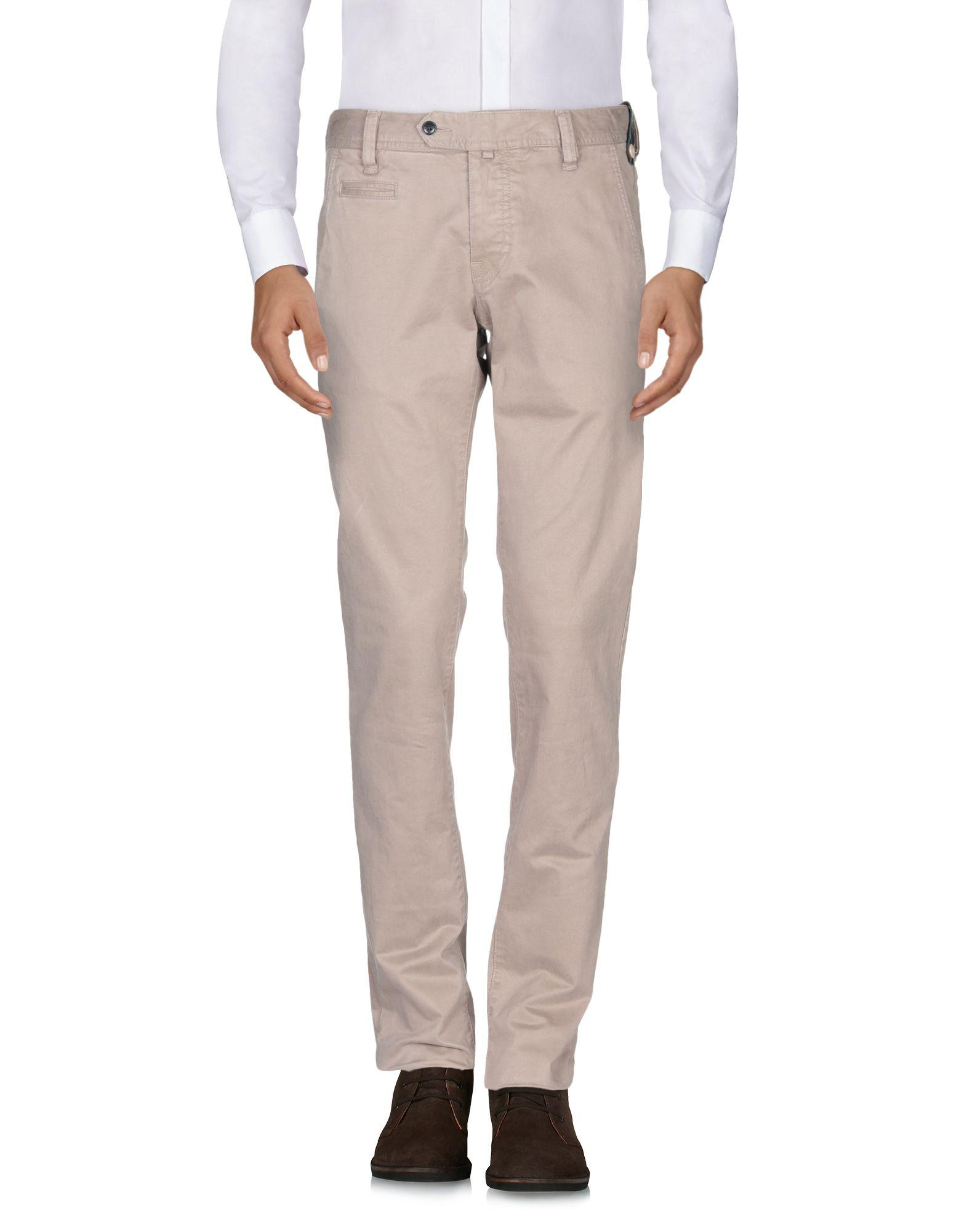 AT.P.CO Leather Casual Trouser in Khaki (Natural) for Men