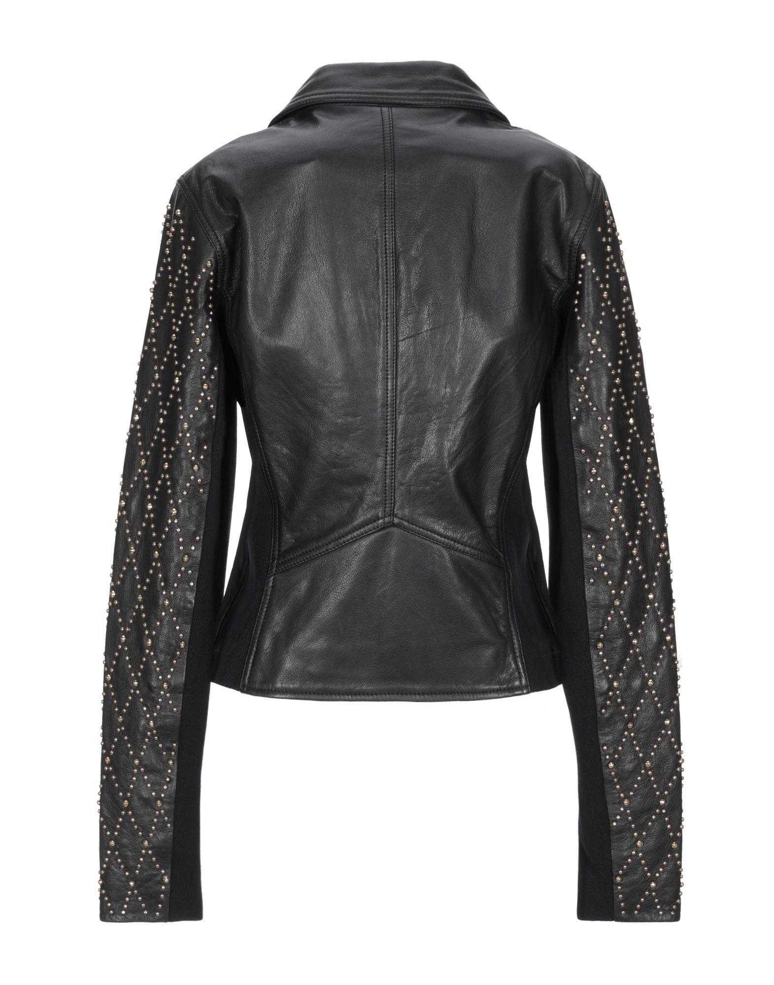 Versace Leather Jacket in Black