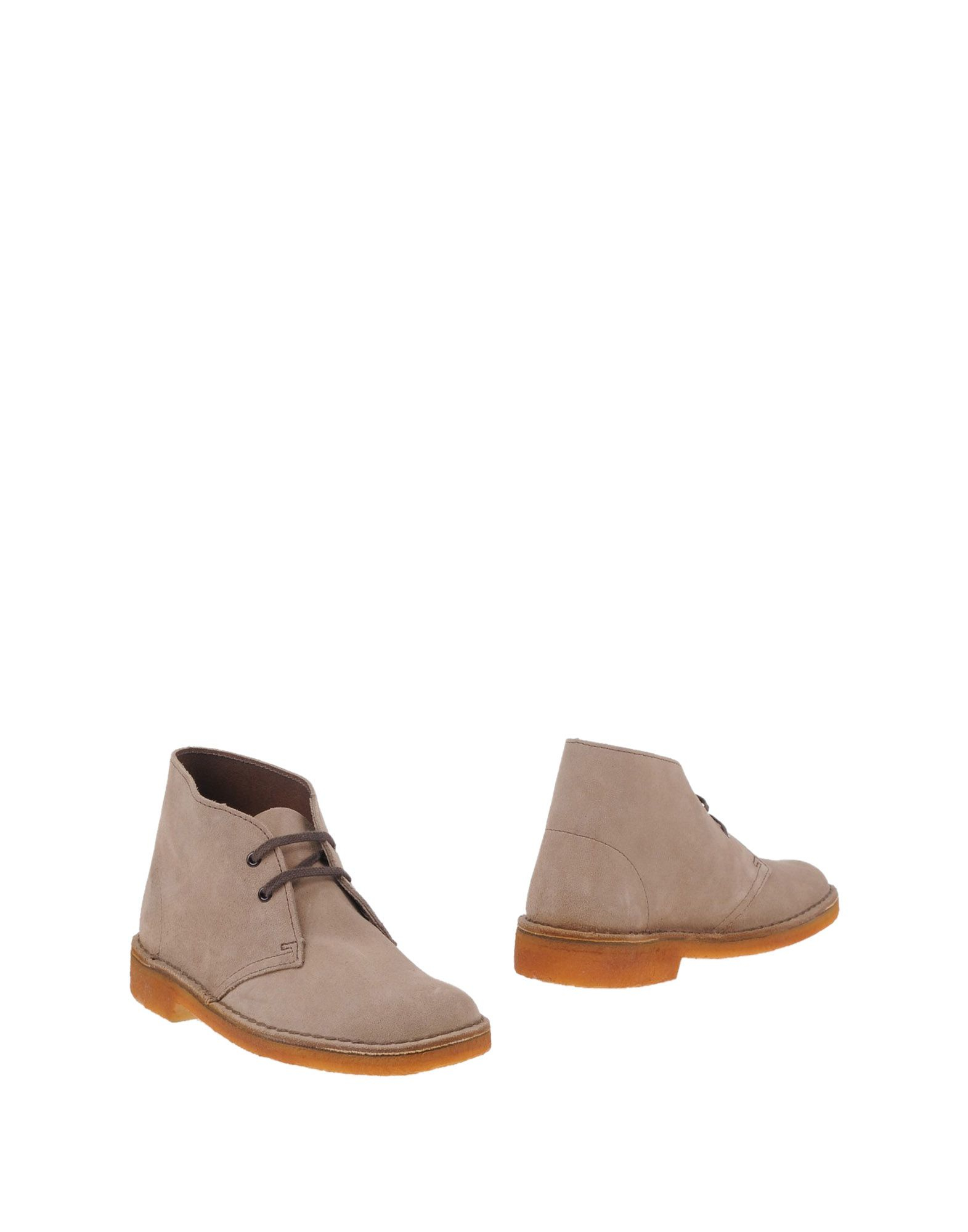 clarks ankle boots in beige sand lyst