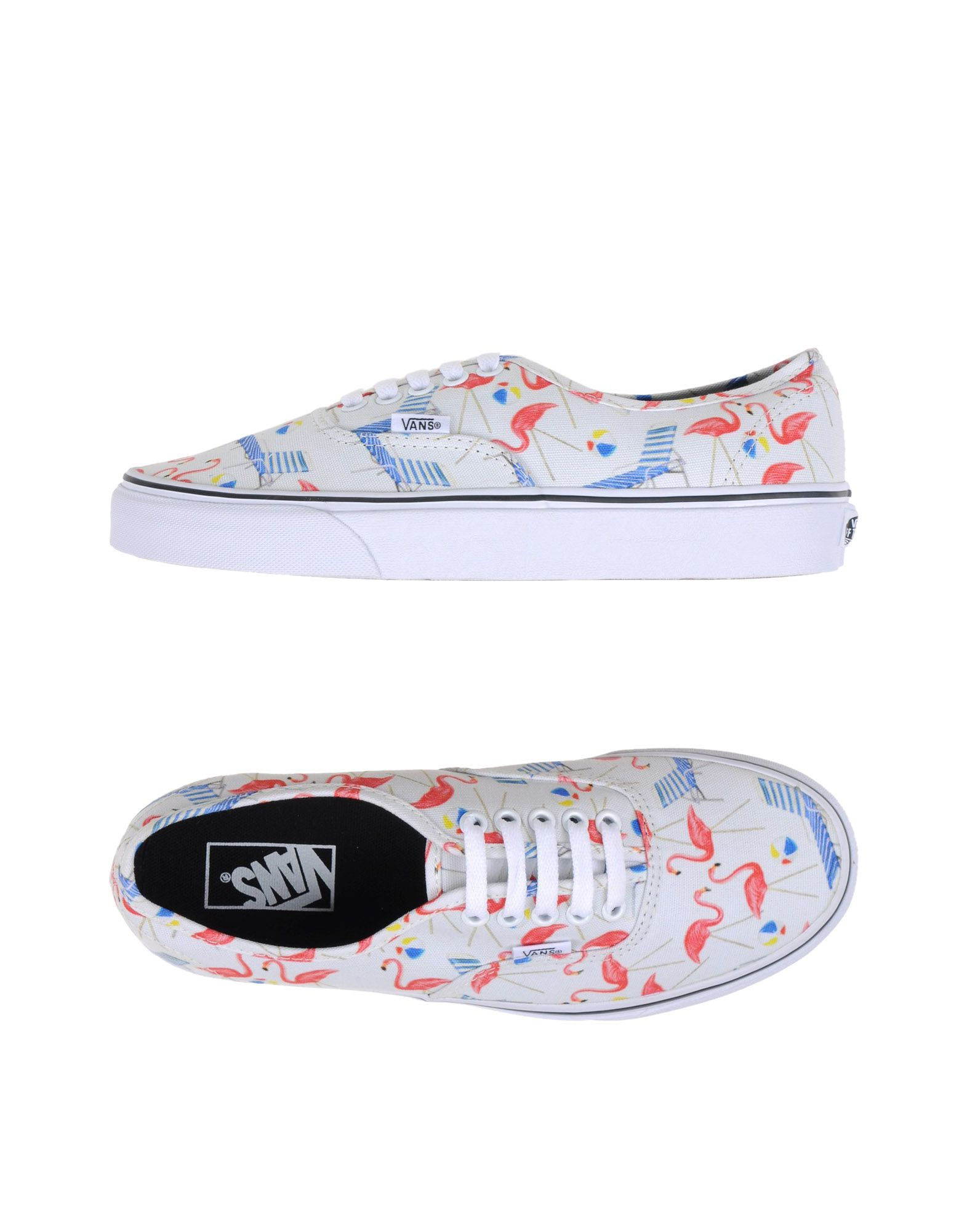 vans low tops sneakers in white lyst. Black Bedroom Furniture Sets. Home Design Ideas