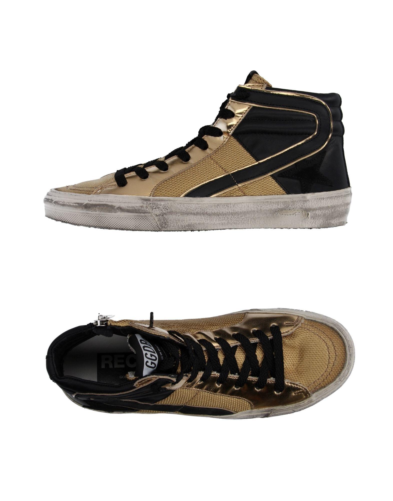 golden goose deluxe brand high tops trainers in metallic lyst. Black Bedroom Furniture Sets. Home Design Ideas