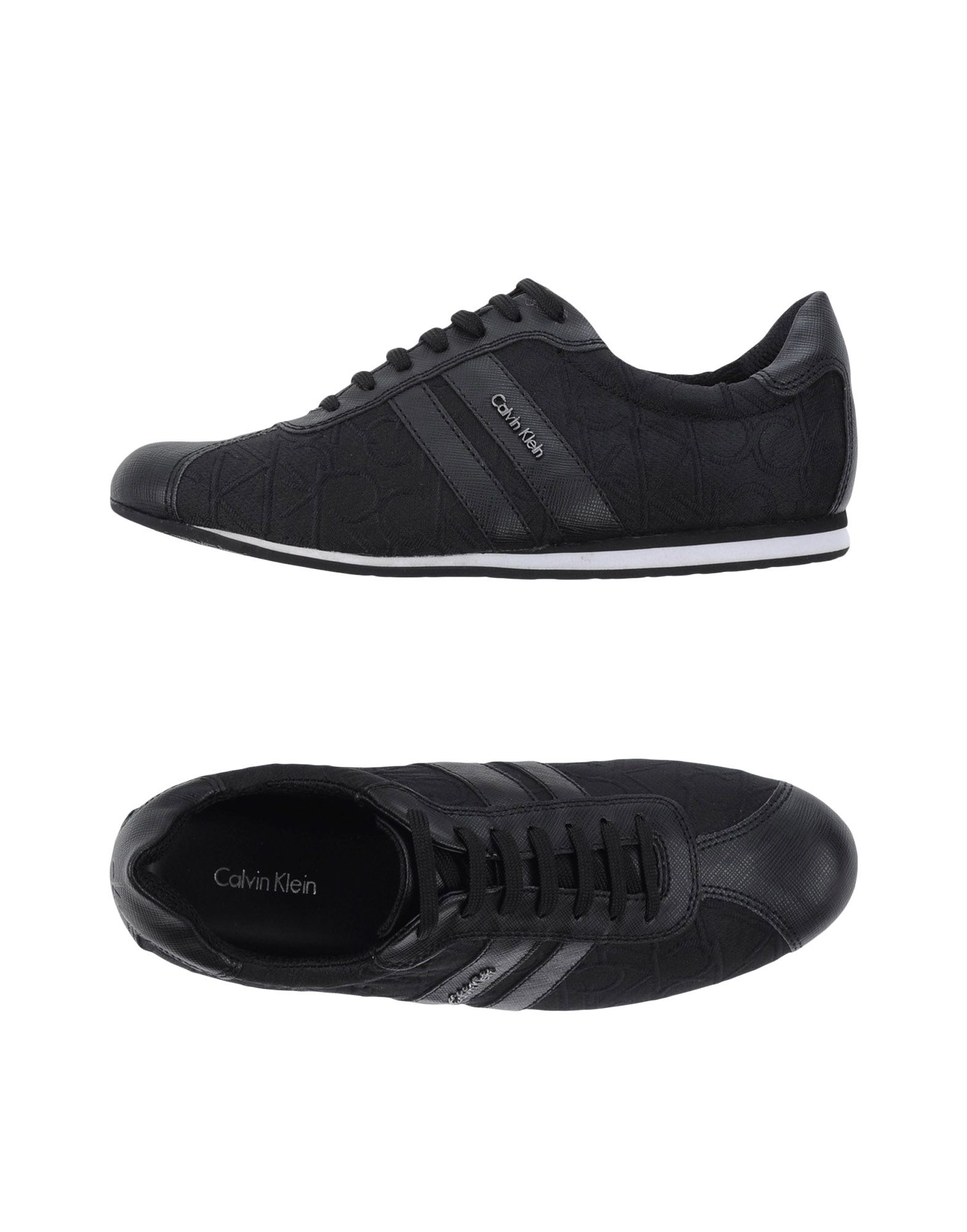 calvin klein low tops trainers in black lyst. Black Bedroom Furniture Sets. Home Design Ideas