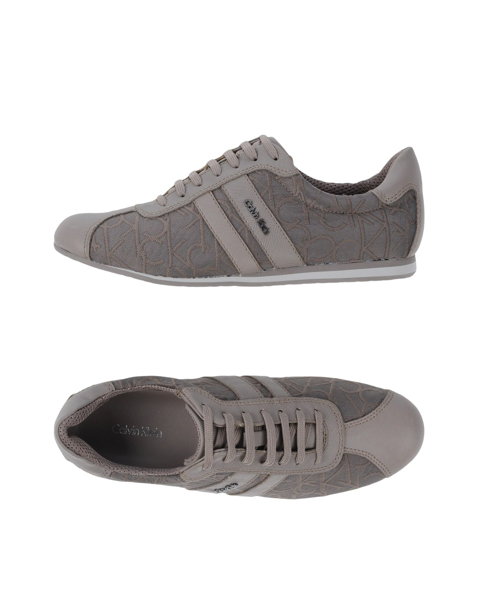 calvin klein low tops trainers in gray lyst. Black Bedroom Furniture Sets. Home Design Ideas
