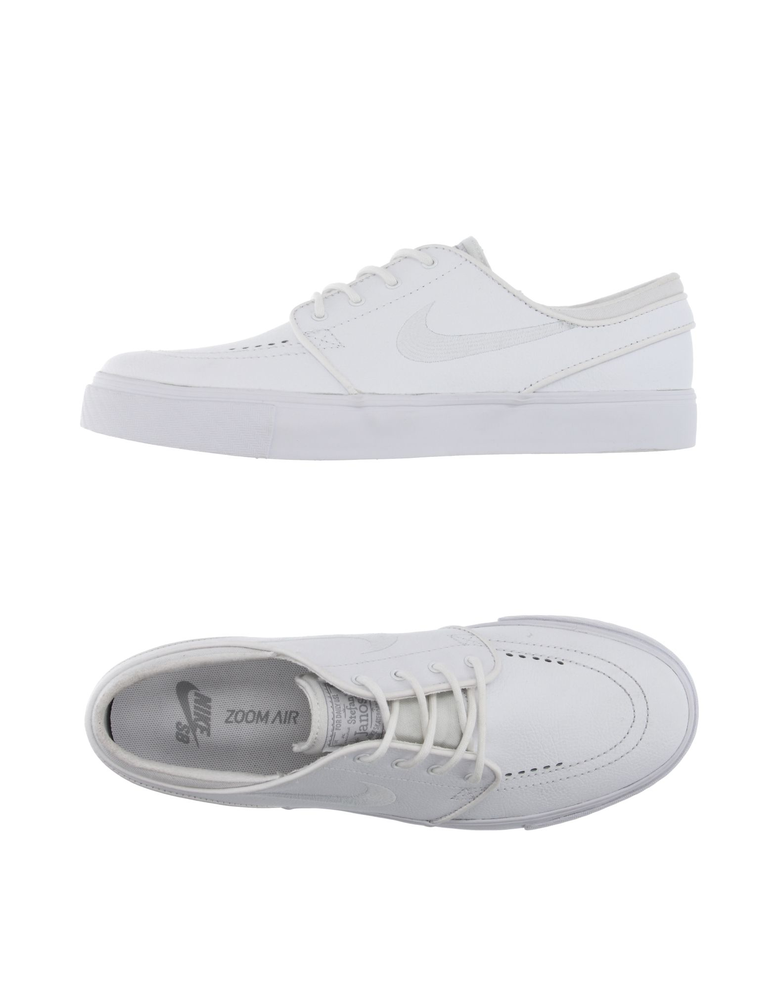 nike low tops trainers in white lyst