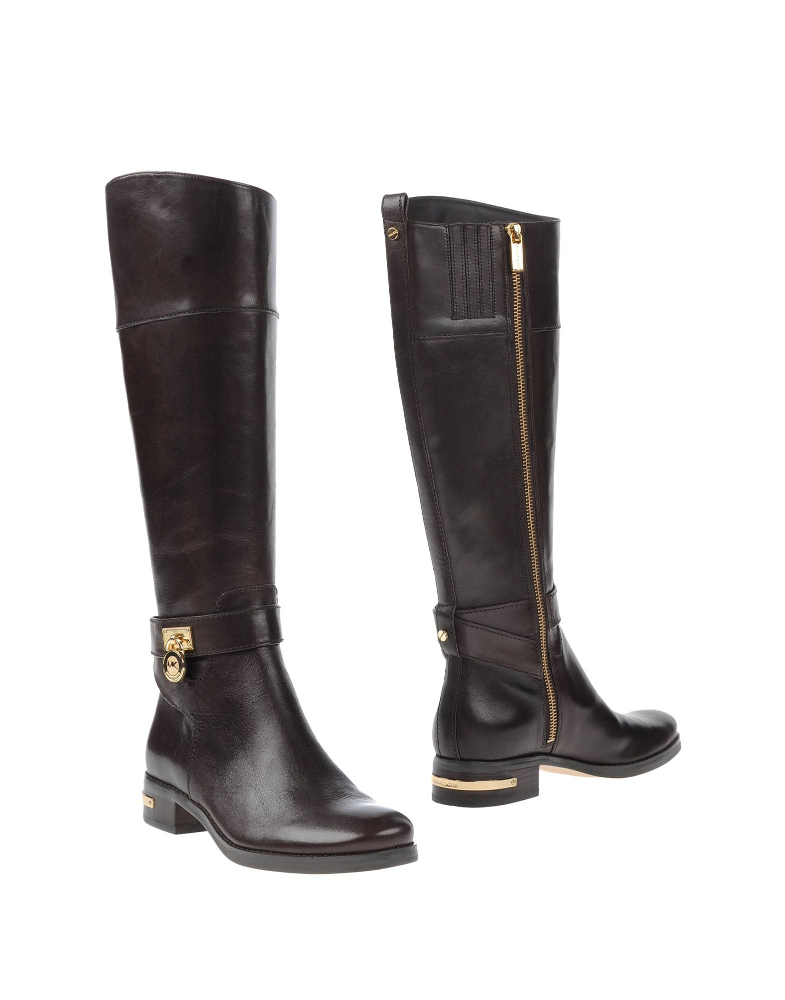 michael michael kors boots in brown lyst