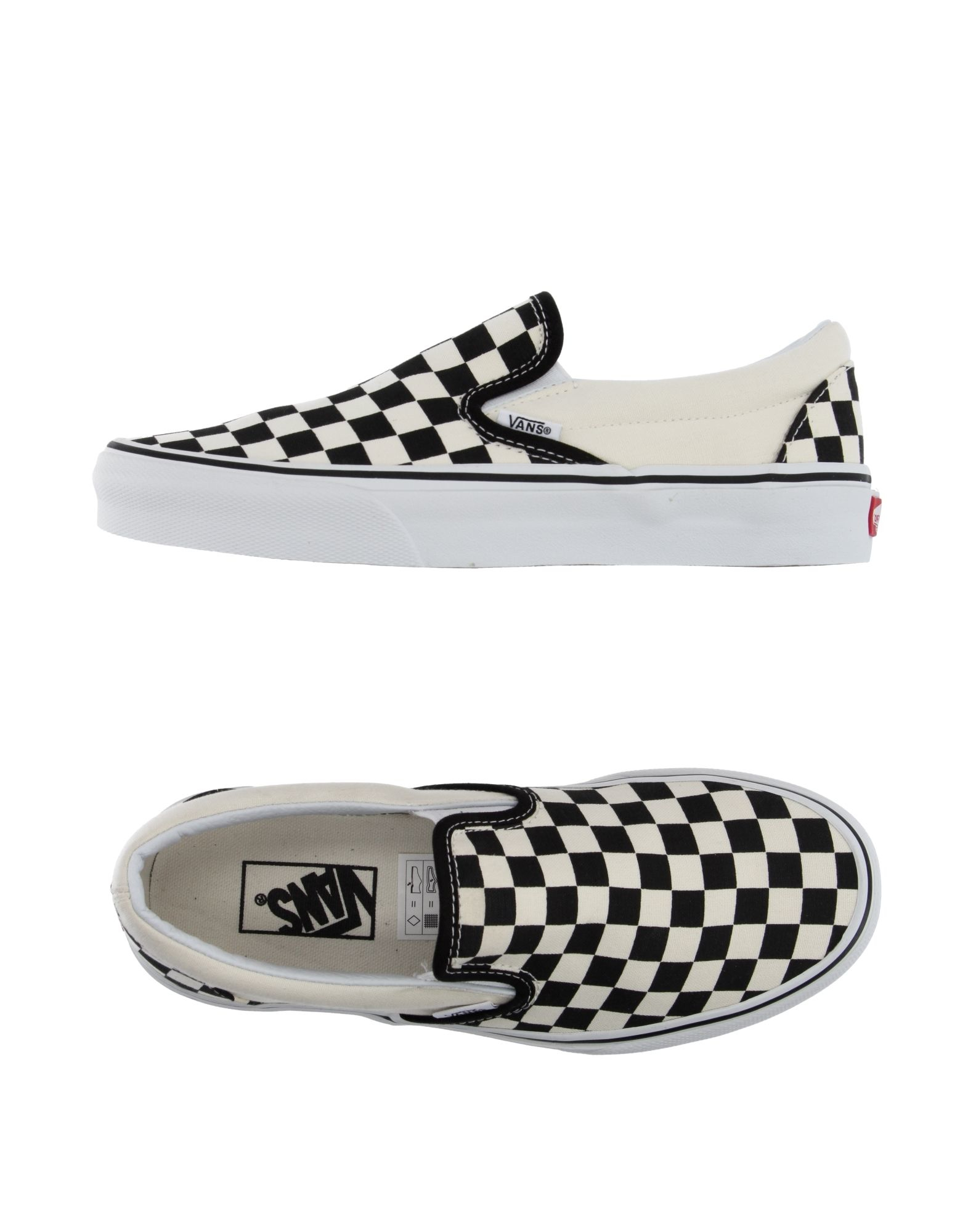 vans low tops trainers in black white lyst. Black Bedroom Furniture Sets. Home Design Ideas