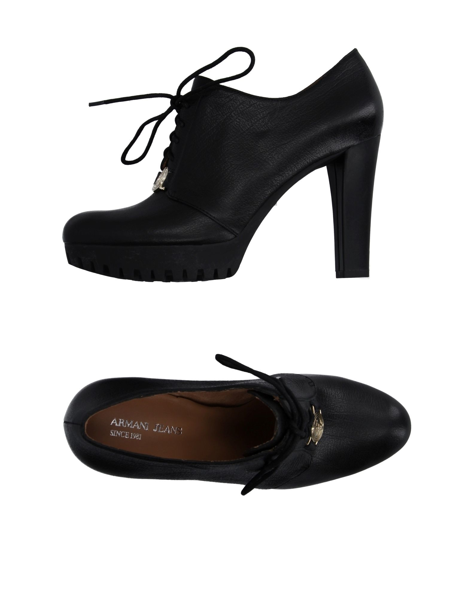 armani lace up shoes in black lyst