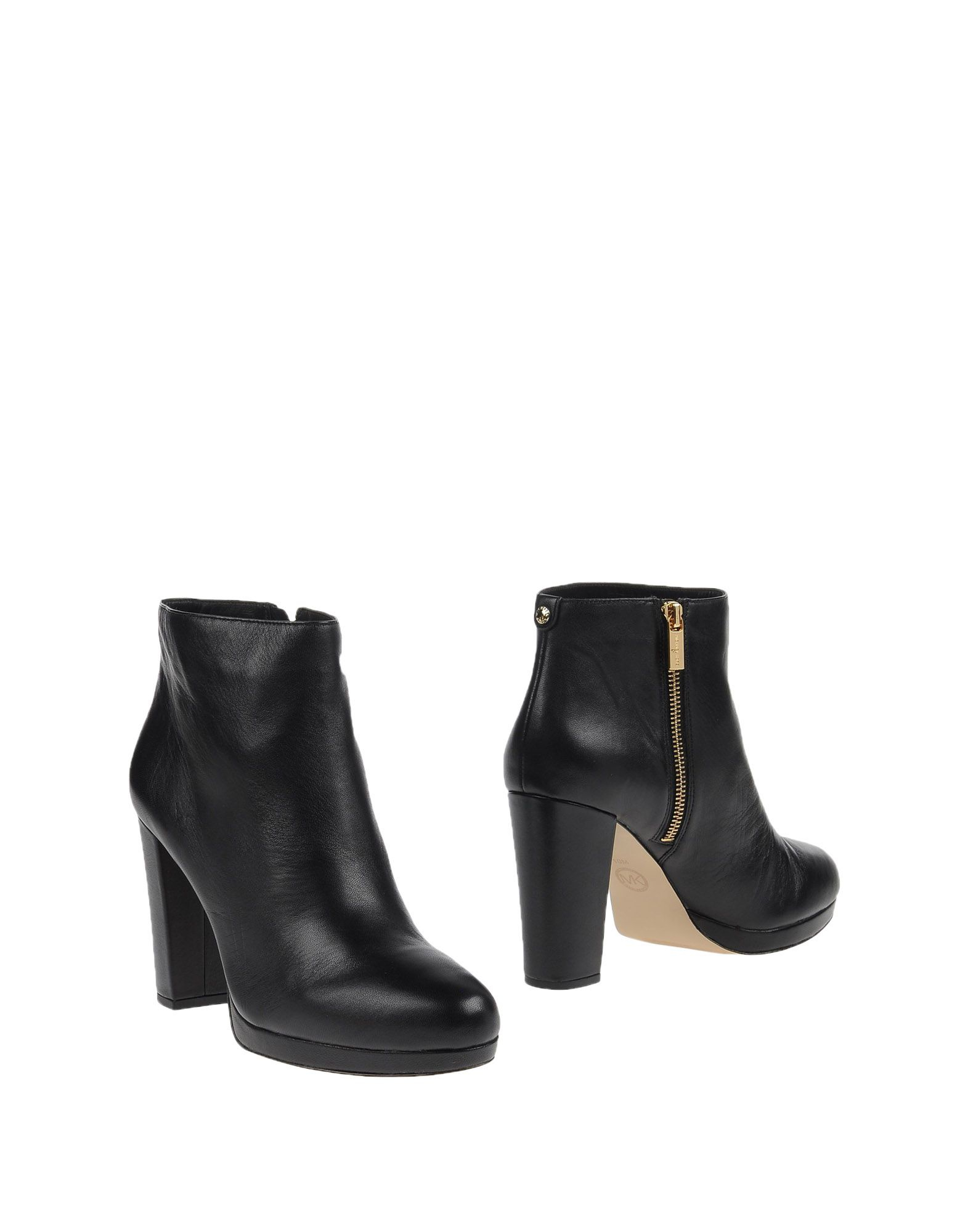 michael michael kors leather ankle boots in black lyst. Black Bedroom Furniture Sets. Home Design Ideas