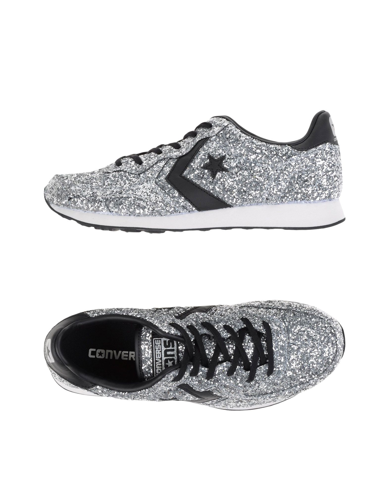 converse cons low tops sneakers in metallic lyst. Black Bedroom Furniture Sets. Home Design Ideas