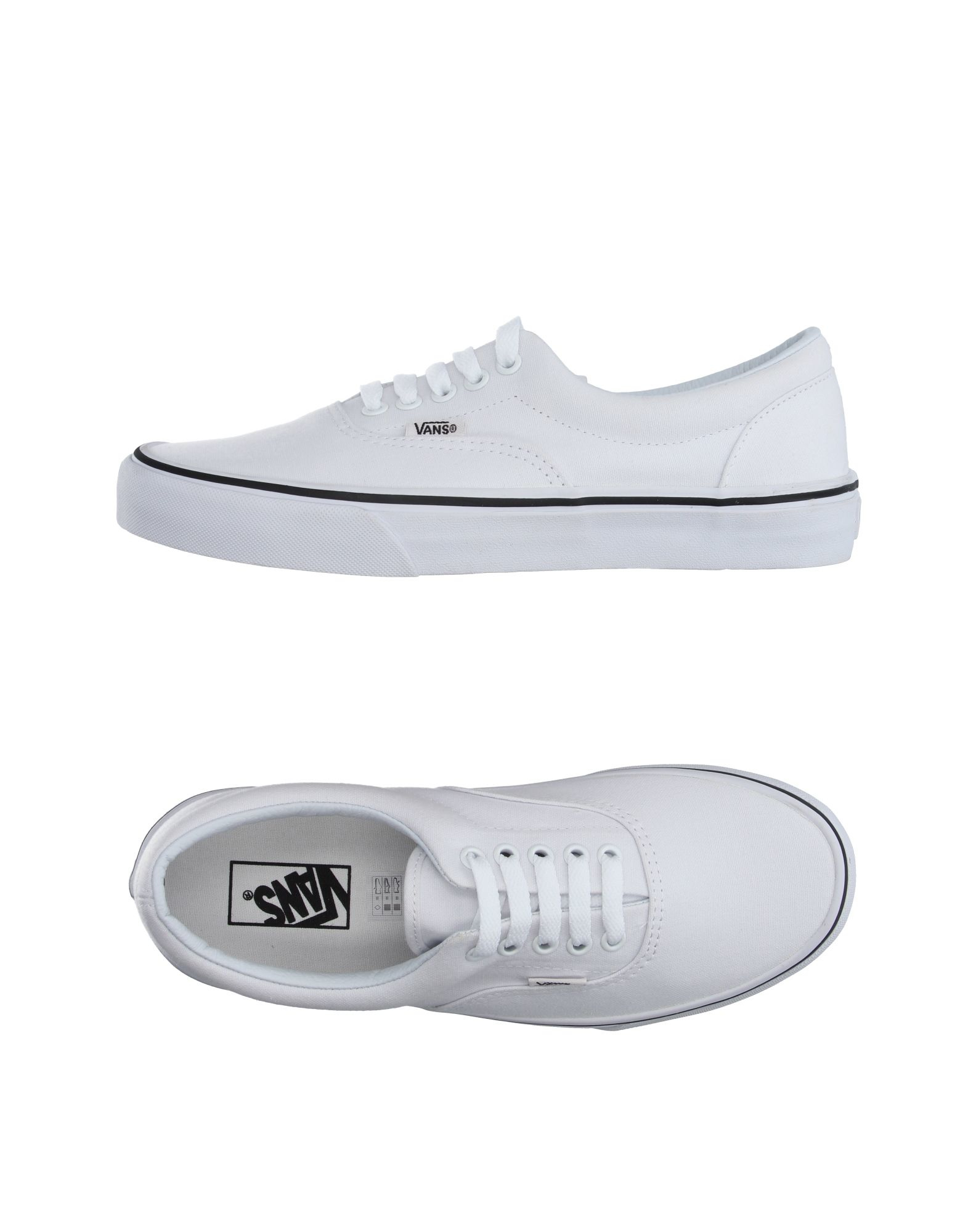 vans low tops trainers in white lyst. Black Bedroom Furniture Sets. Home Design Ideas