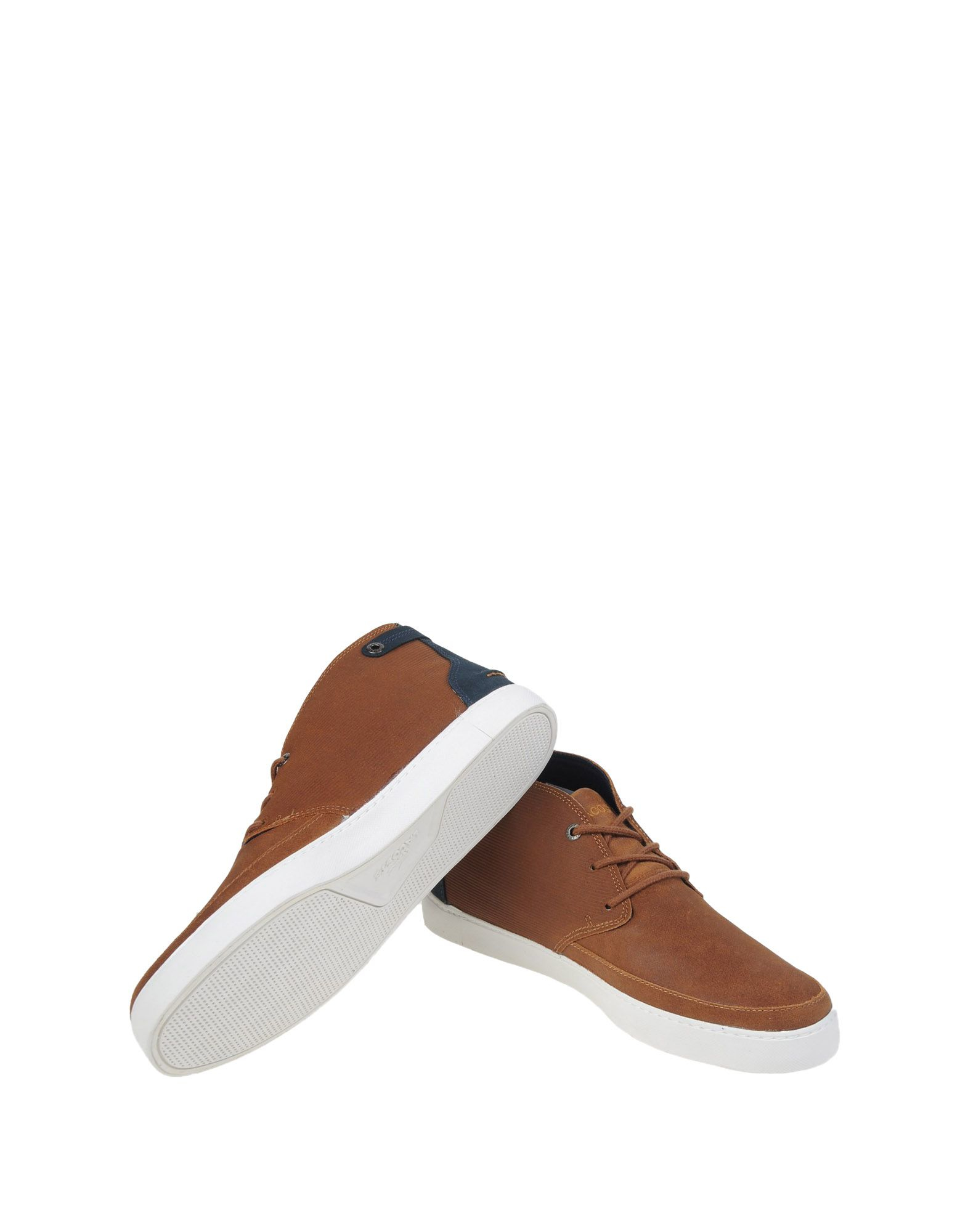 lyst lacoste hightops amp sneakers in brown for men