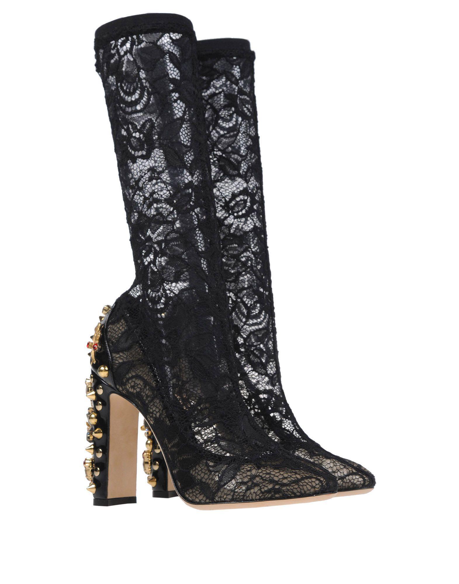 Lyst Dolce Amp Gabbana Boots In Black