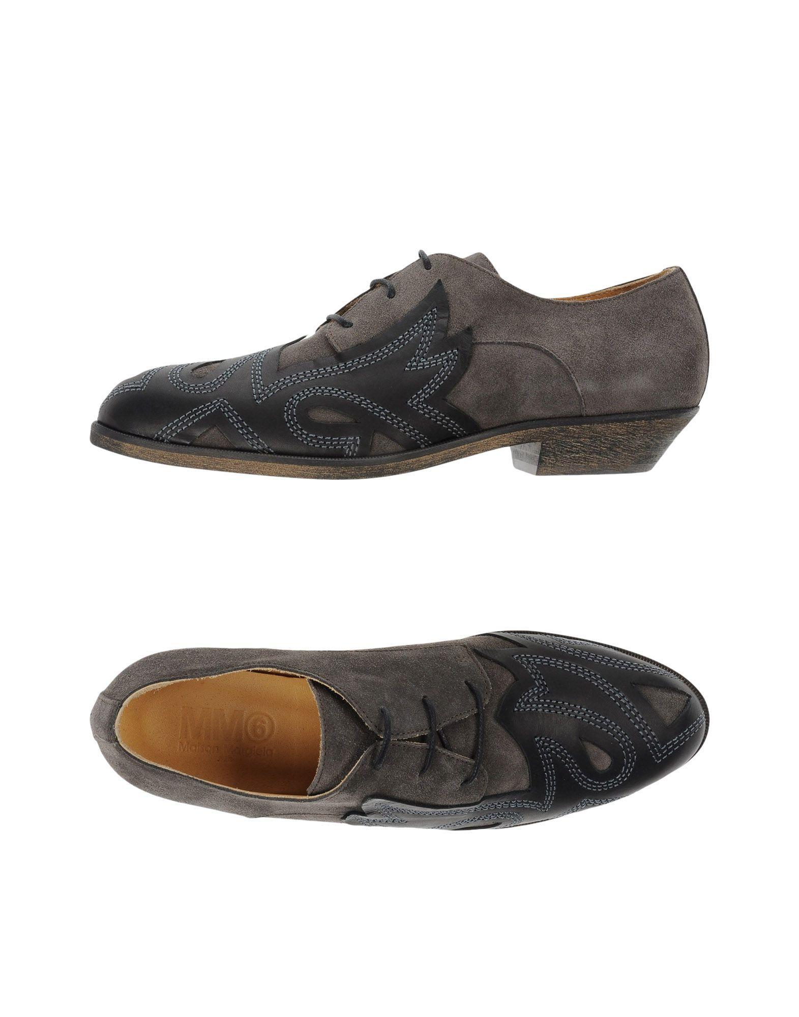 mm6 by maison martin margiela lace up shoe lyst. Black Bedroom Furniture Sets. Home Design Ideas