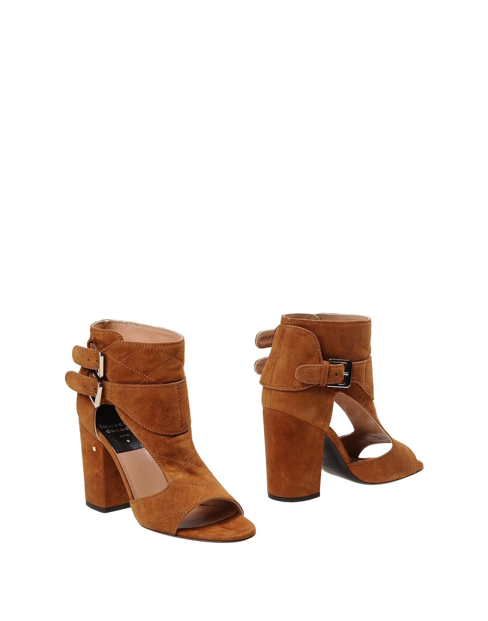 laurence dacade cut out suede ankle boots in brown lyst