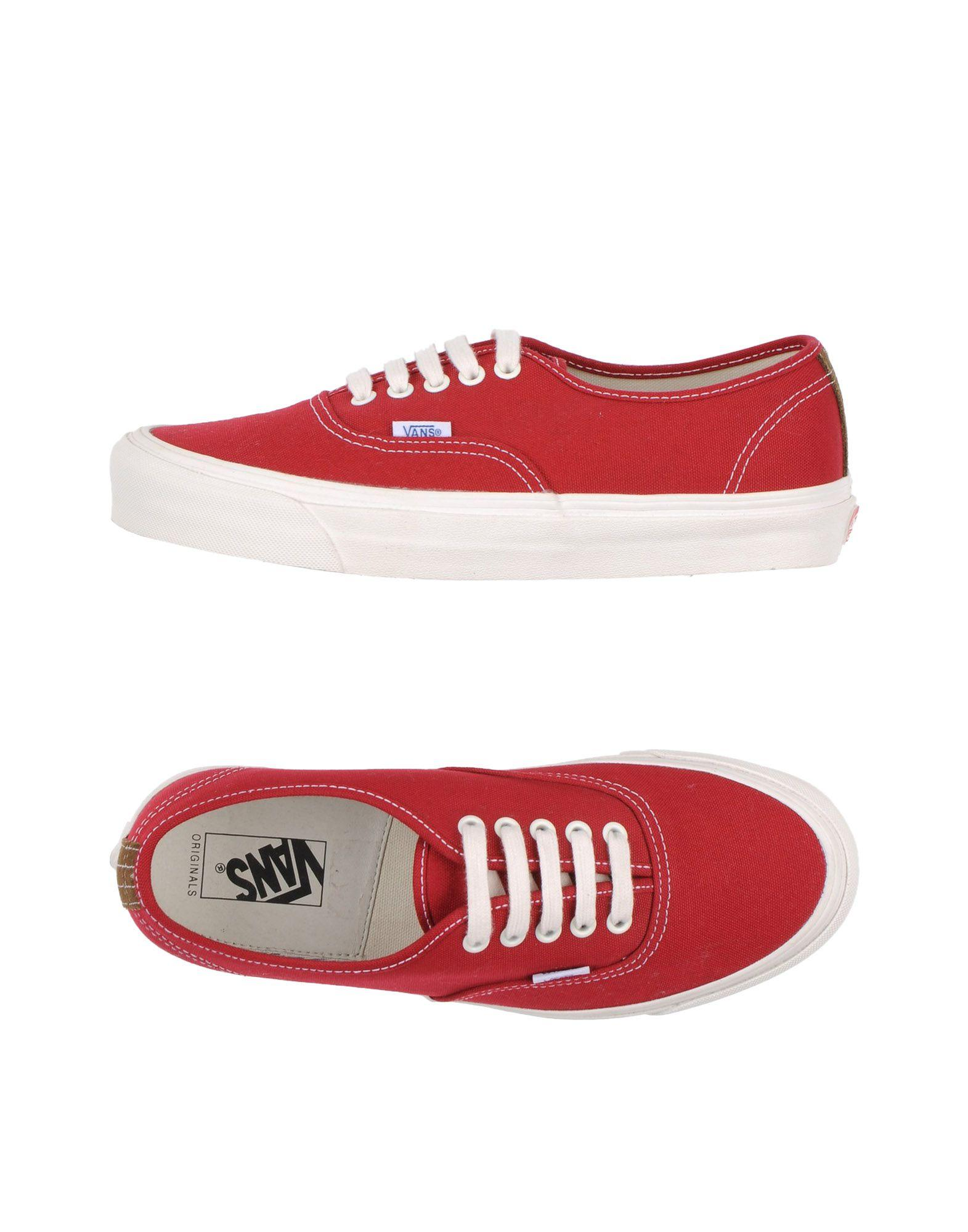 vans low tops sneakers in red for men save 50 lyst. Black Bedroom Furniture Sets. Home Design Ideas