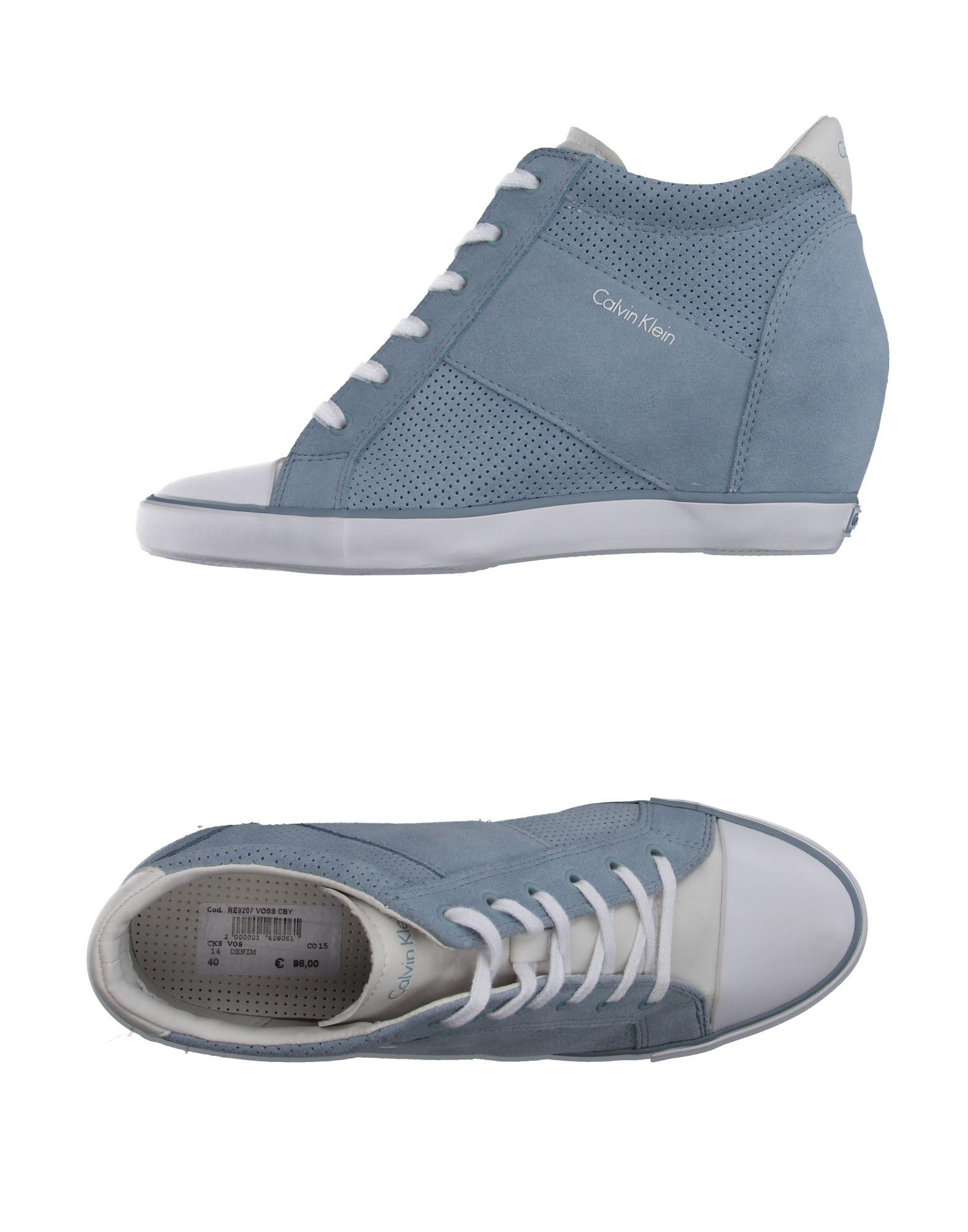 calvin klein high tops sneakers in blue lyst. Black Bedroom Furniture Sets. Home Design Ideas
