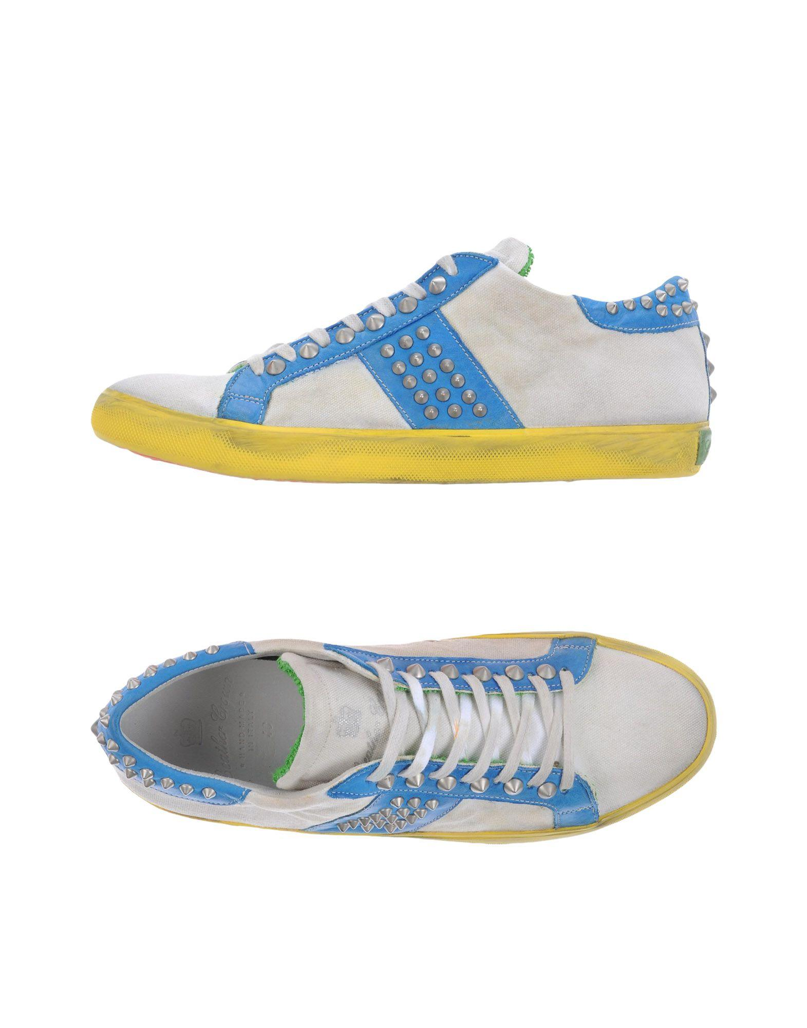 leather crown low tops sneakers in white for lyst