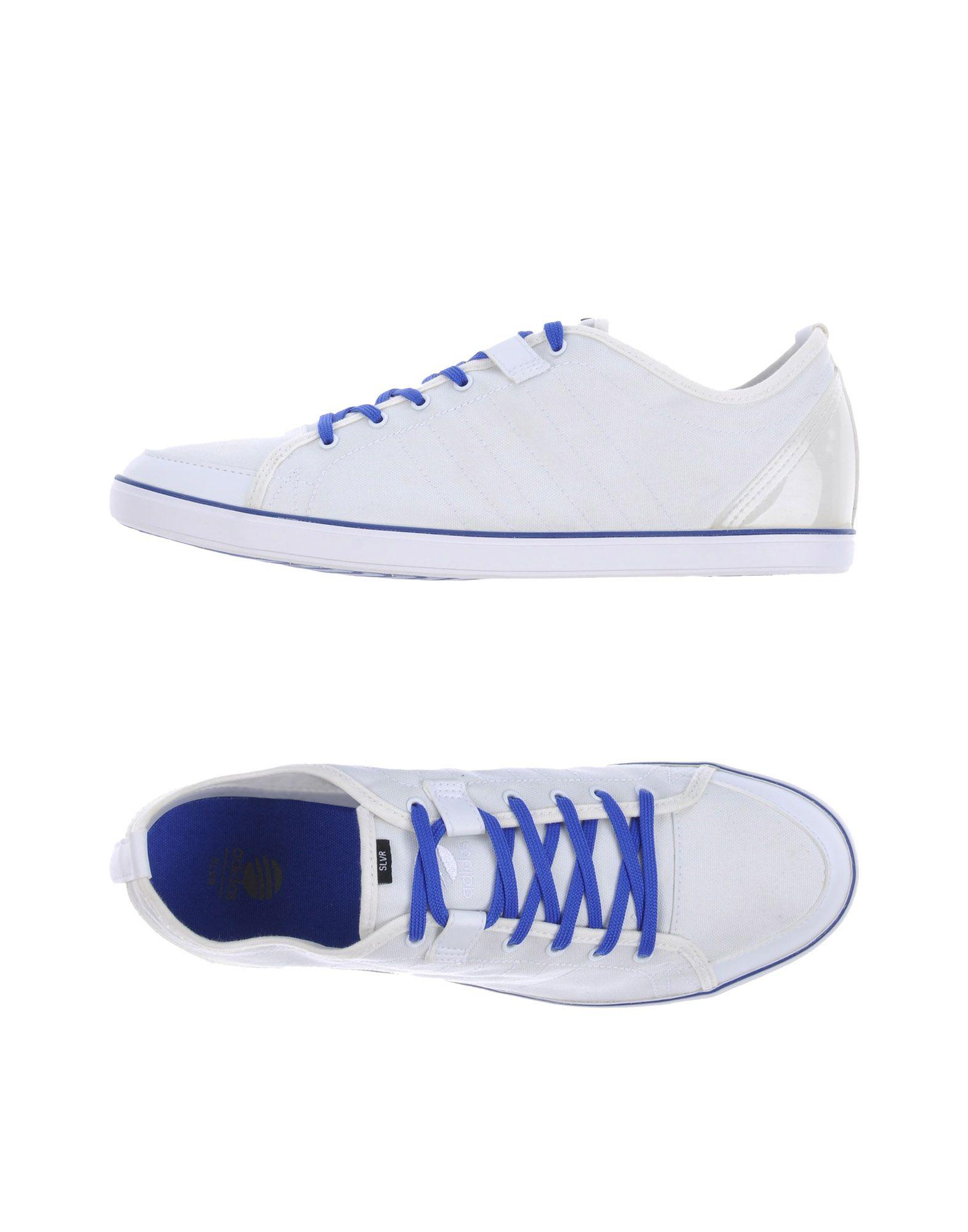 adidas slvr low tops sneakers in white for lyst