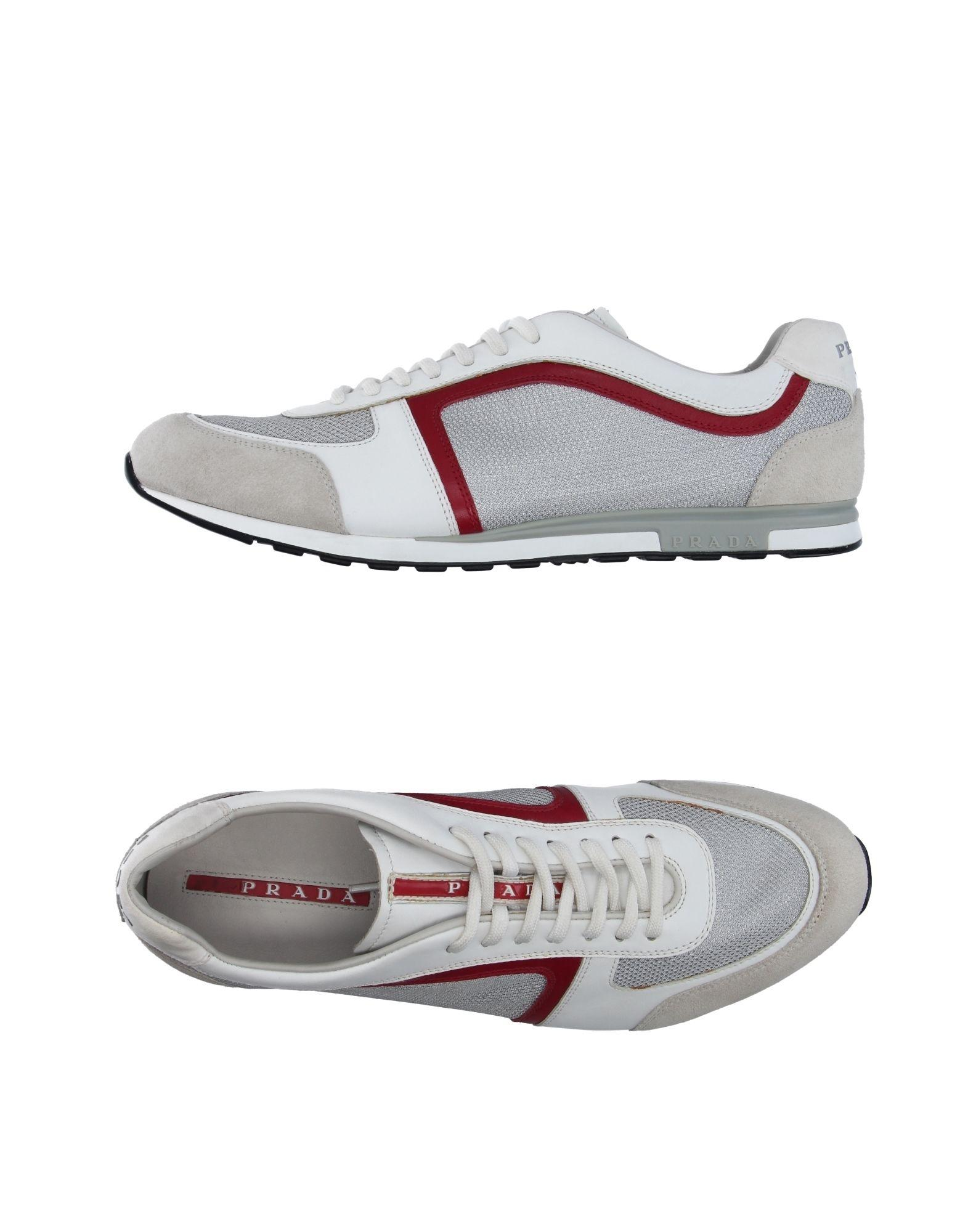 prada sport low tops sneakers in white for lyst