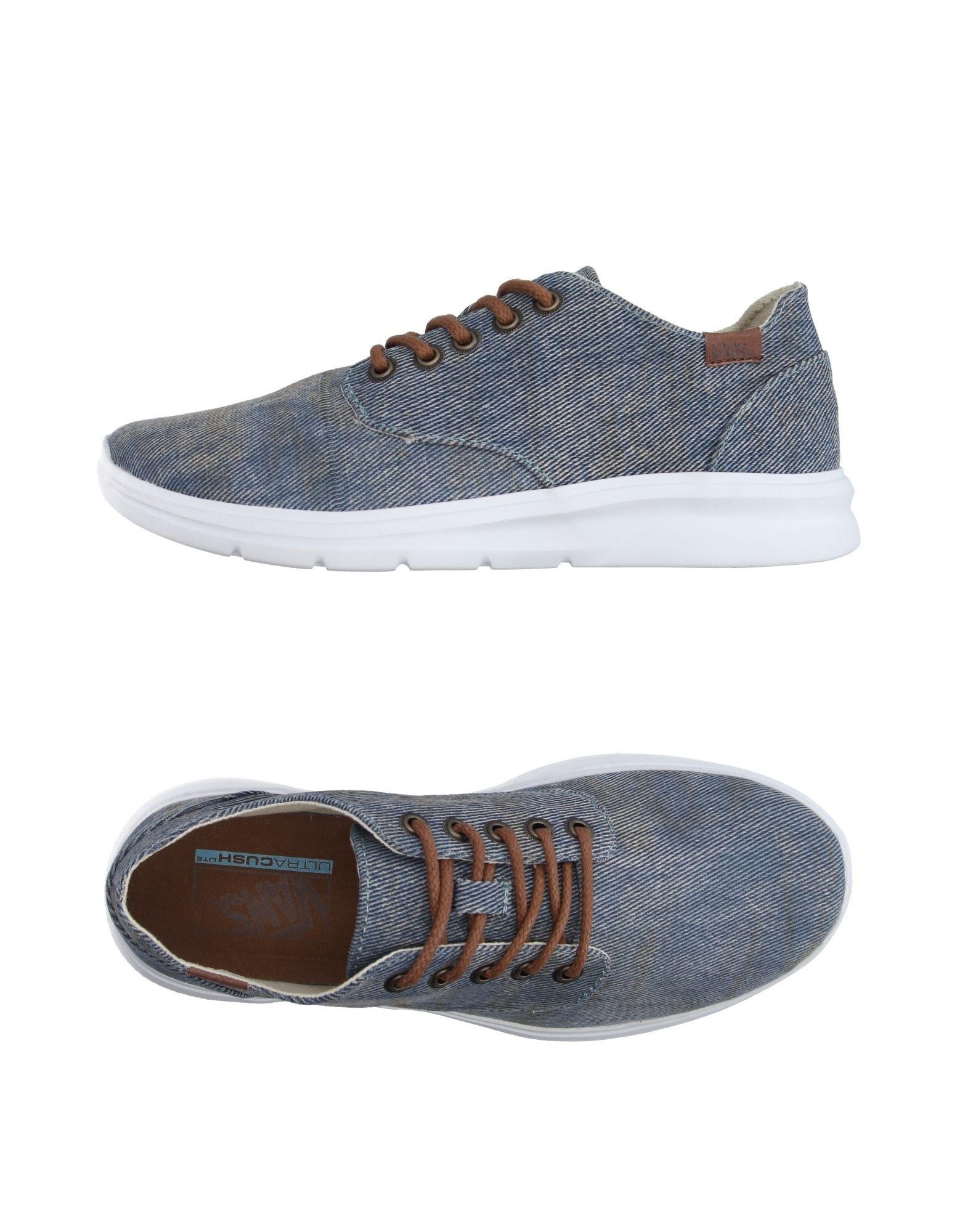 vans low tops sneakers in blue for men lyst. Black Bedroom Furniture Sets. Home Design Ideas