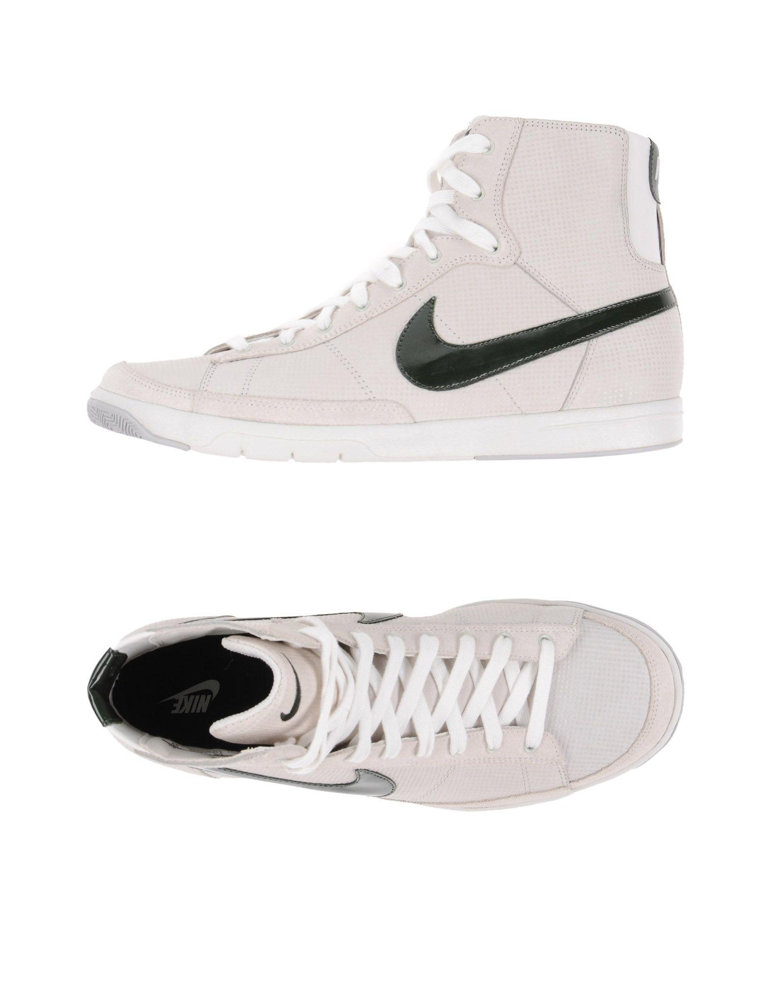 nike high tops sneakers in white lyst