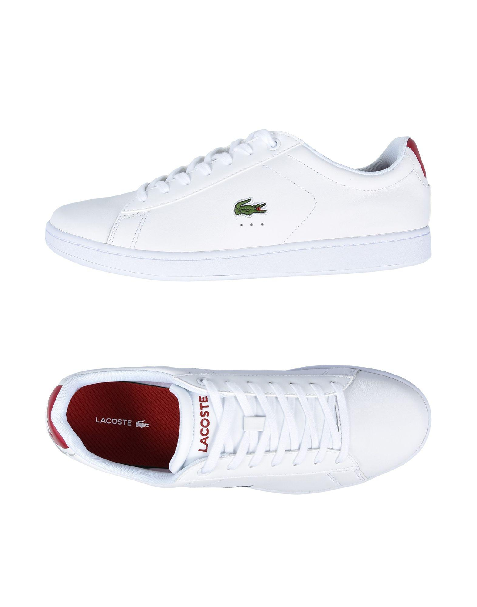 lacoste low tops sneakers in white for lyst