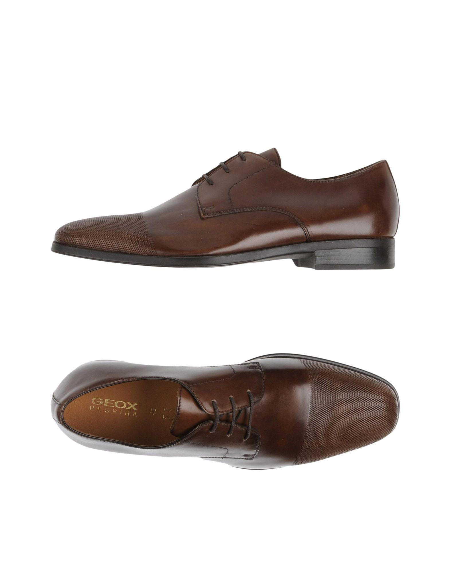 Lyst Geox Lace Up Shoe In Brown For Men