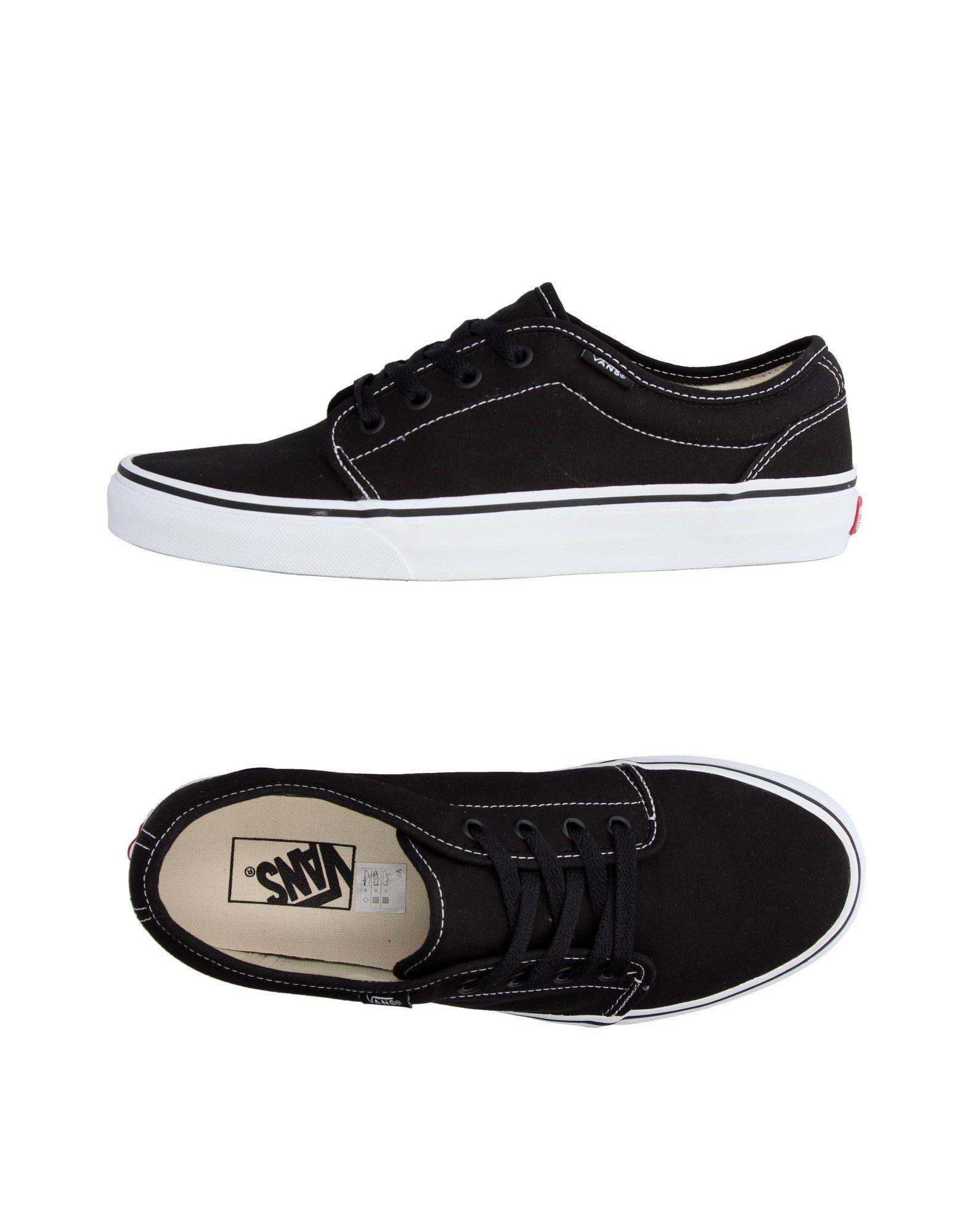 vans low tops sneakers in black for men lyst. Black Bedroom Furniture Sets. Home Design Ideas