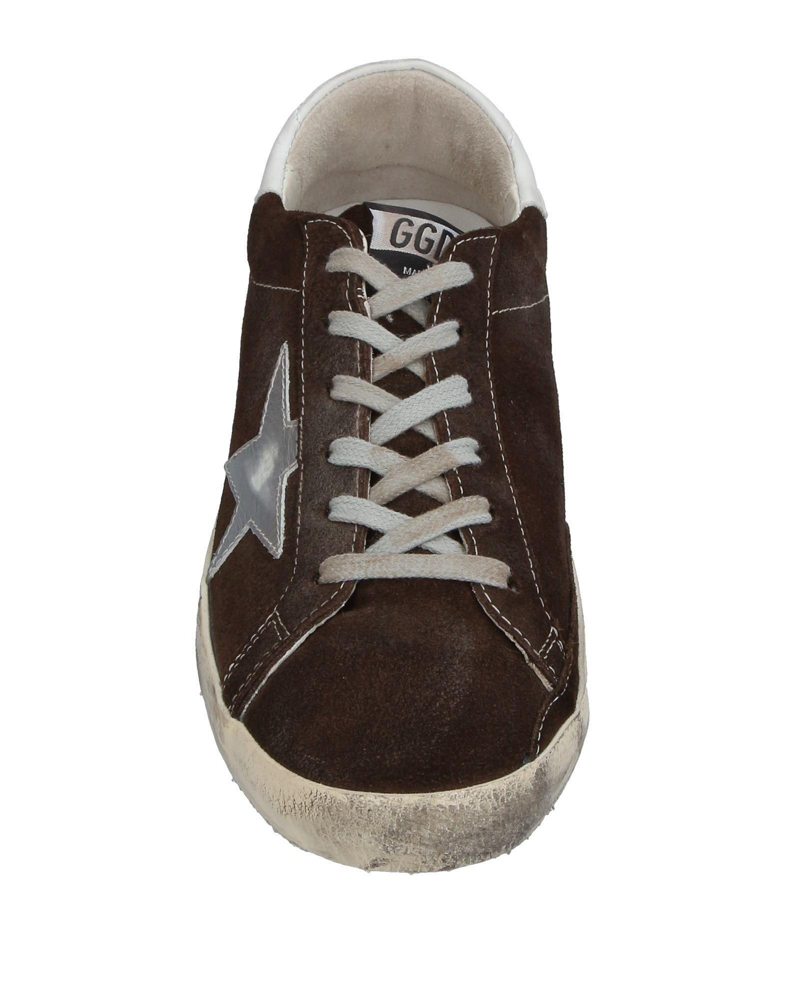 Golden Goose Deluxe Brand Leather Low-tops & Sneakers in Dark Brown (Brown)