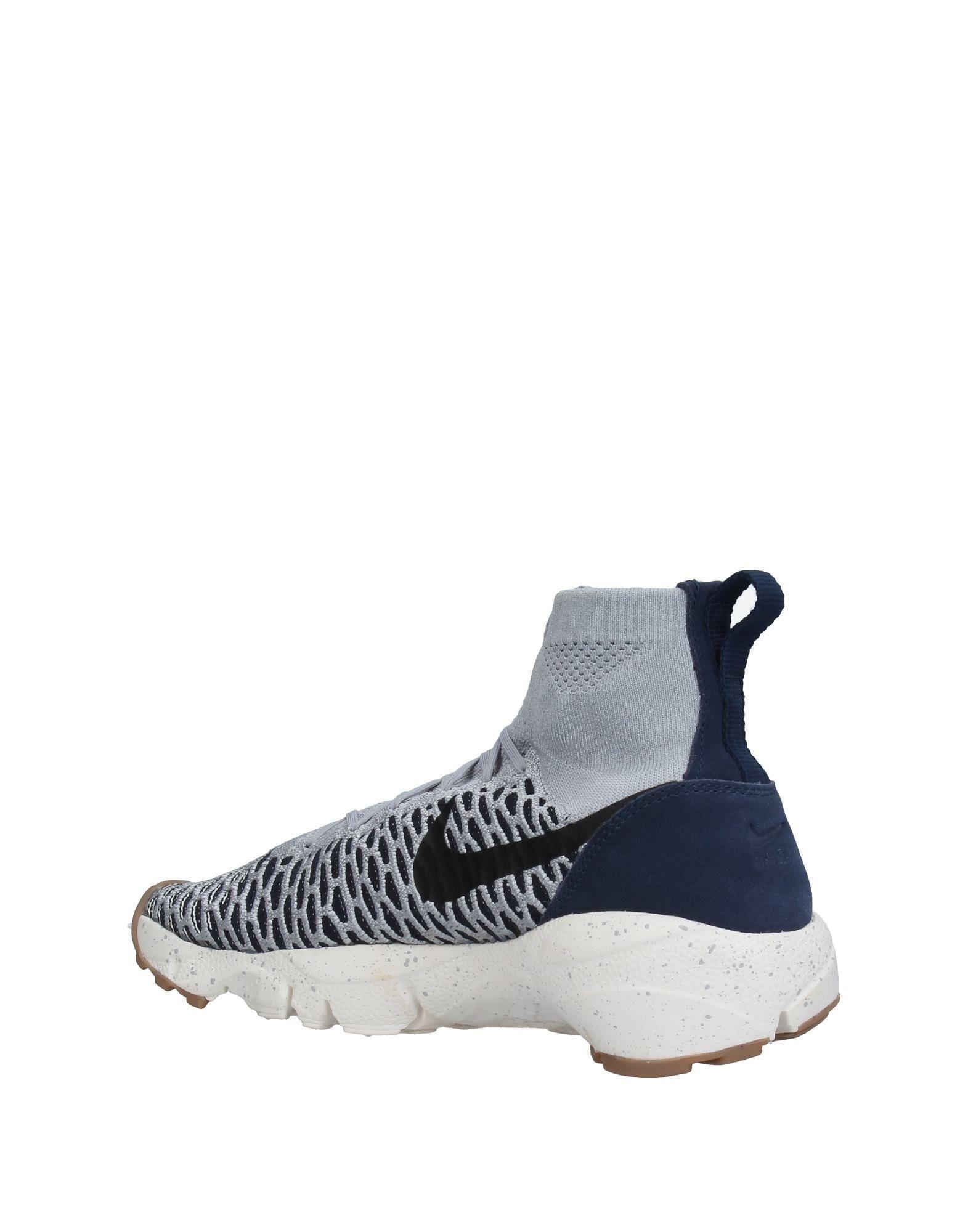 nike hightops amp sneakers in gray for men lyst