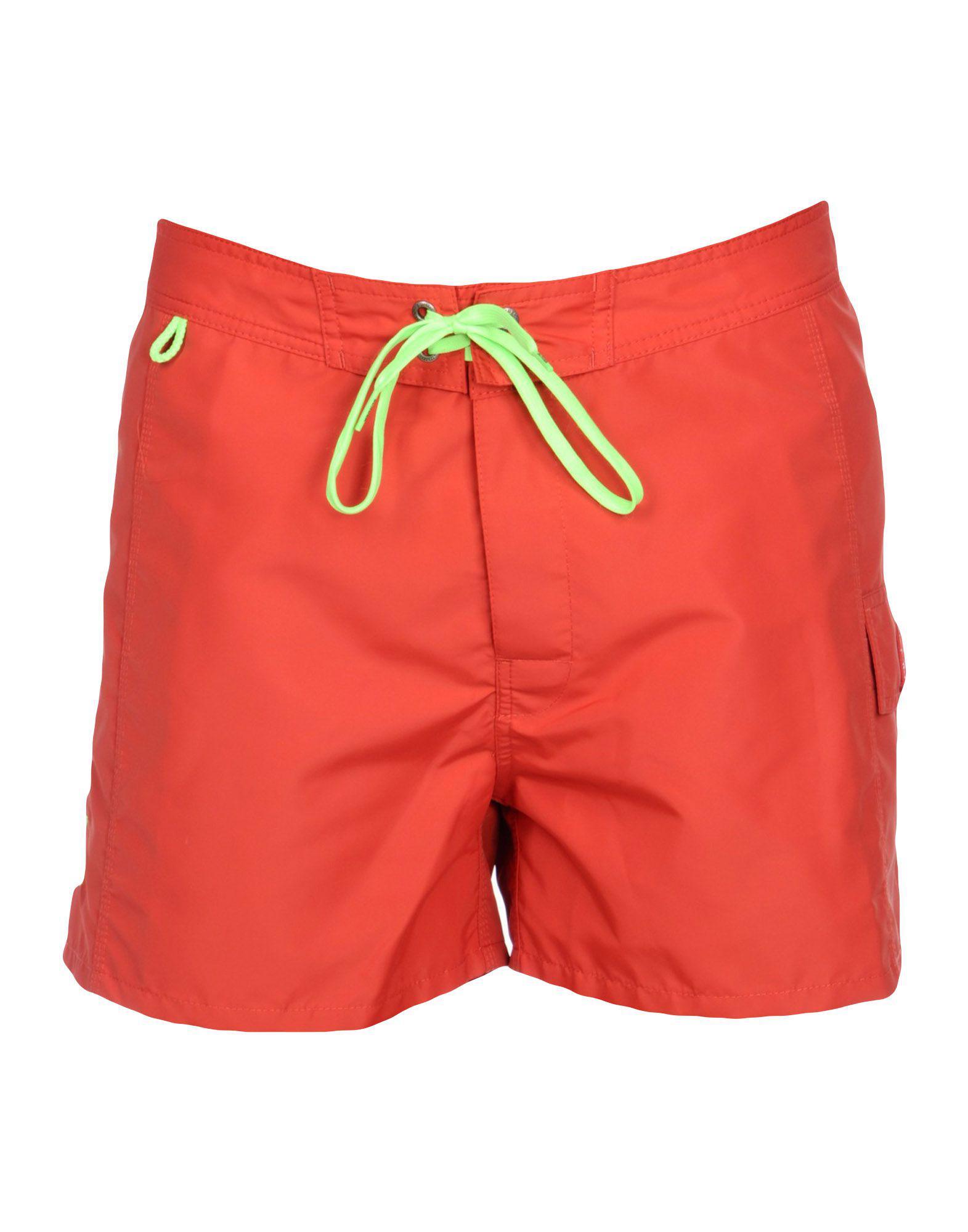 07122d9e14b6d Lyst - Sundek Swim Trunks in Red for Men