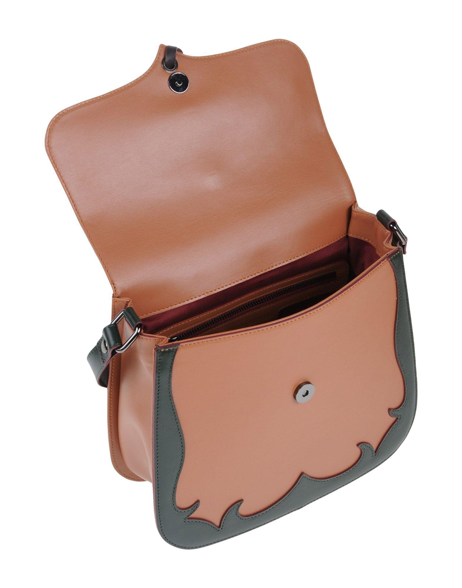 Antonio Marras Leather Cross-body Bag in Brown