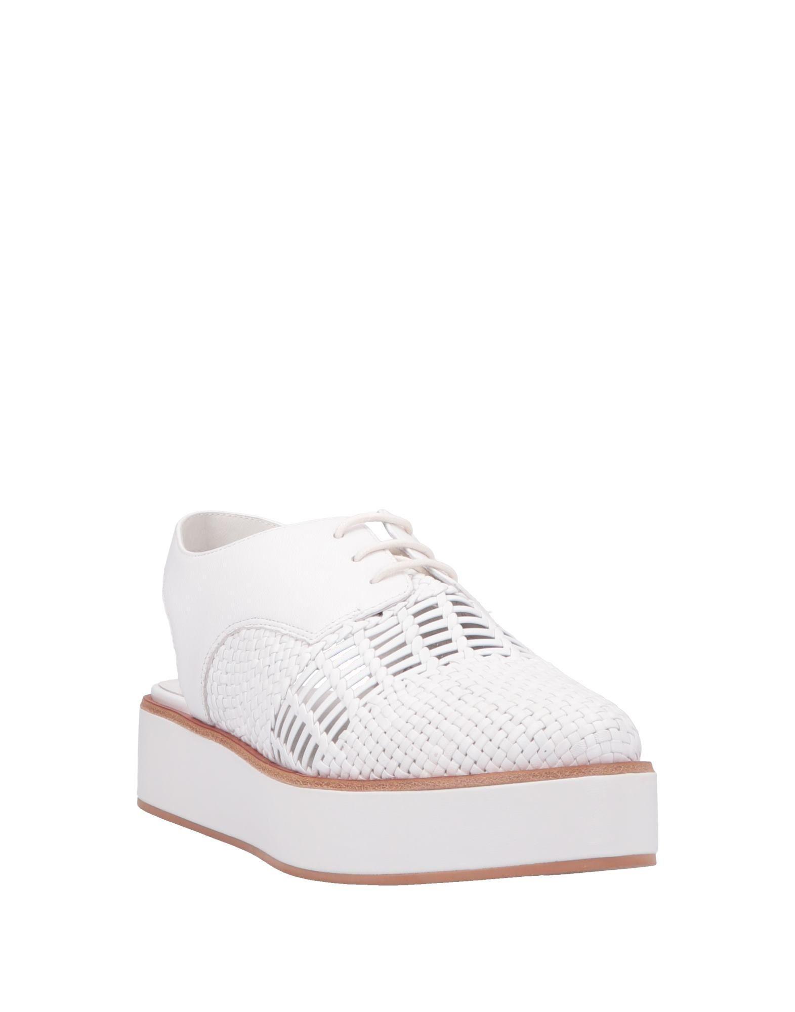 Zapatos de cordones What For de Cuero de color Blanco