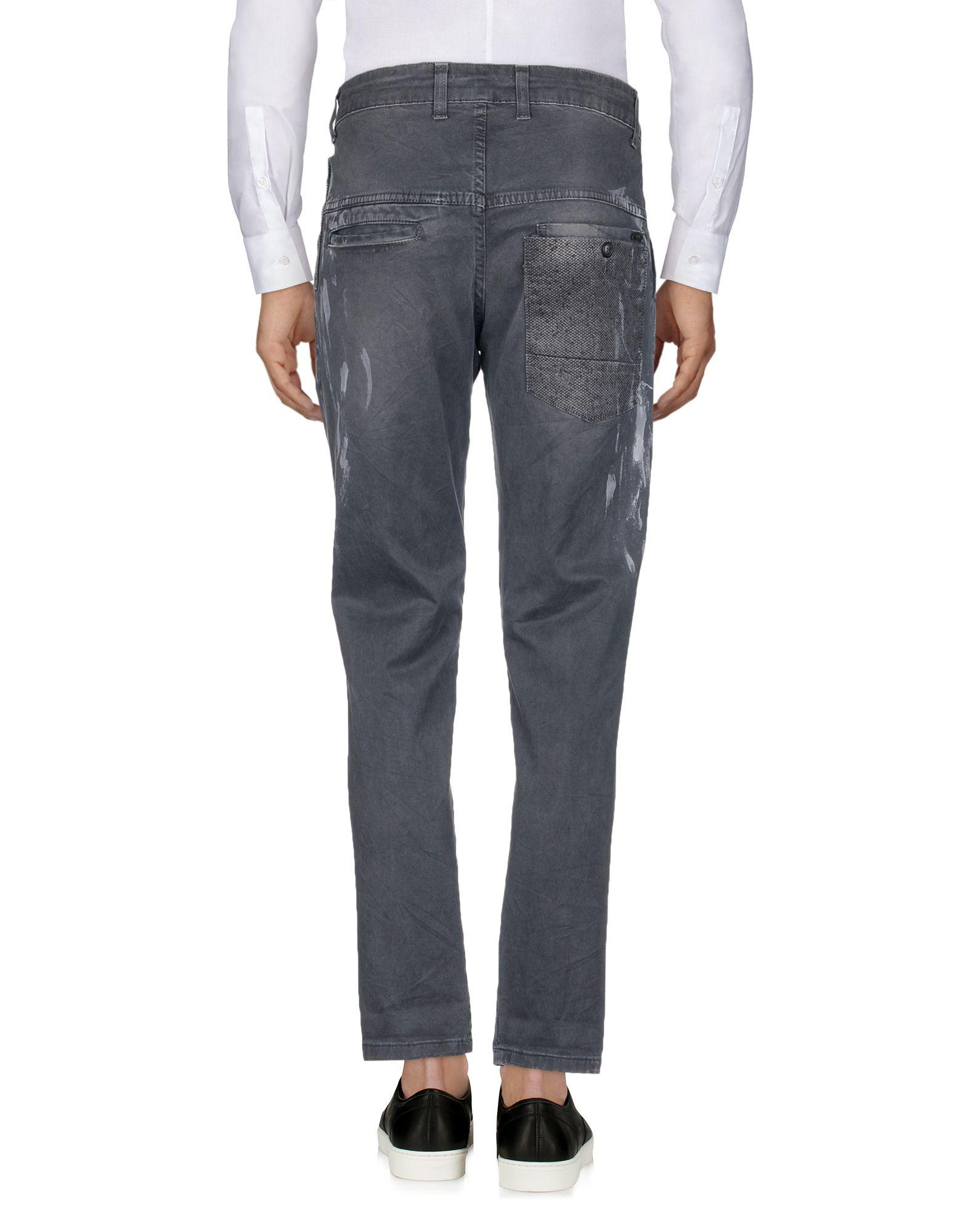 Squad² Cotton Casual Pants in Grey (Grey) for Men