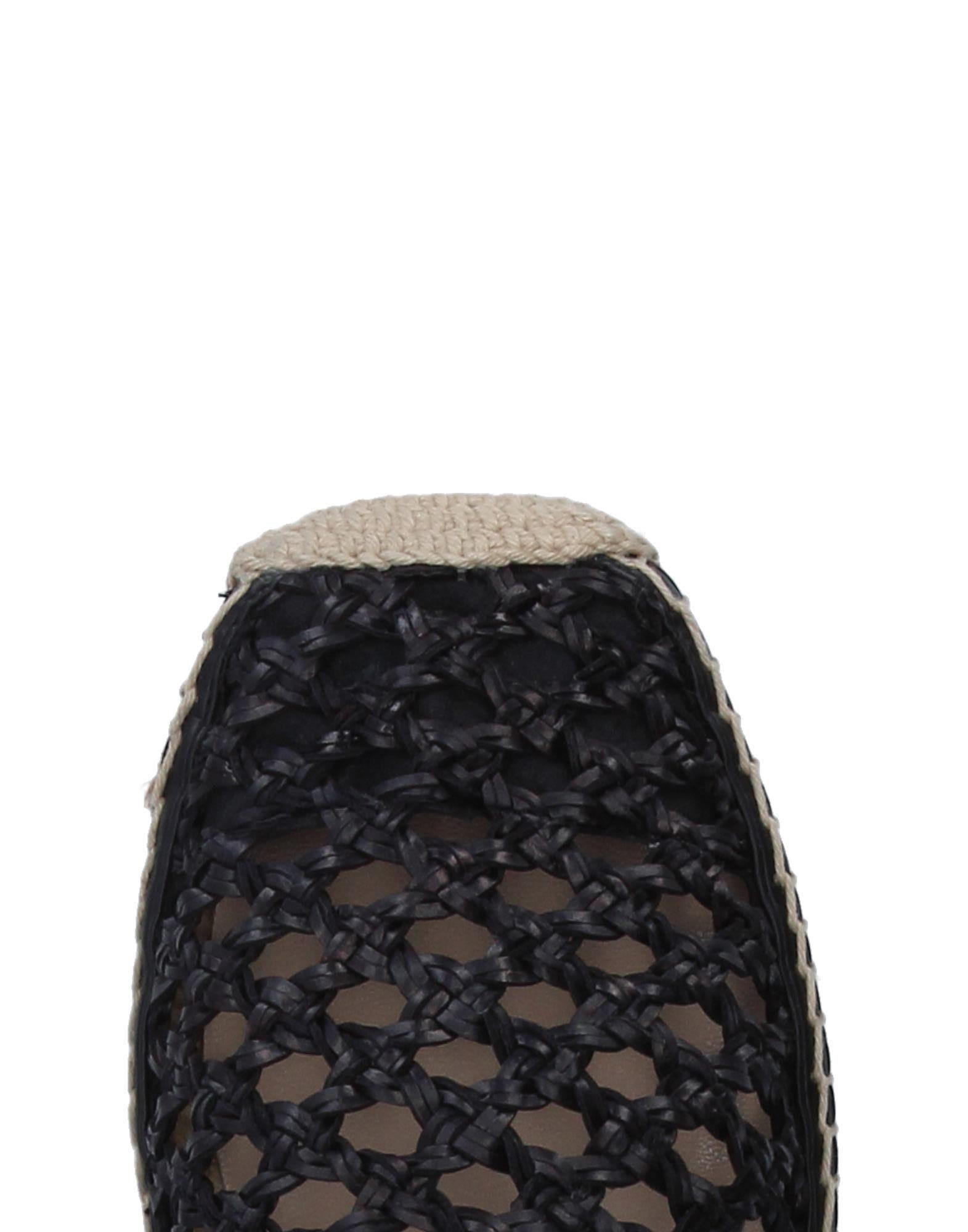 Espadrillas Paloma Barceló de Cuero de color Negro