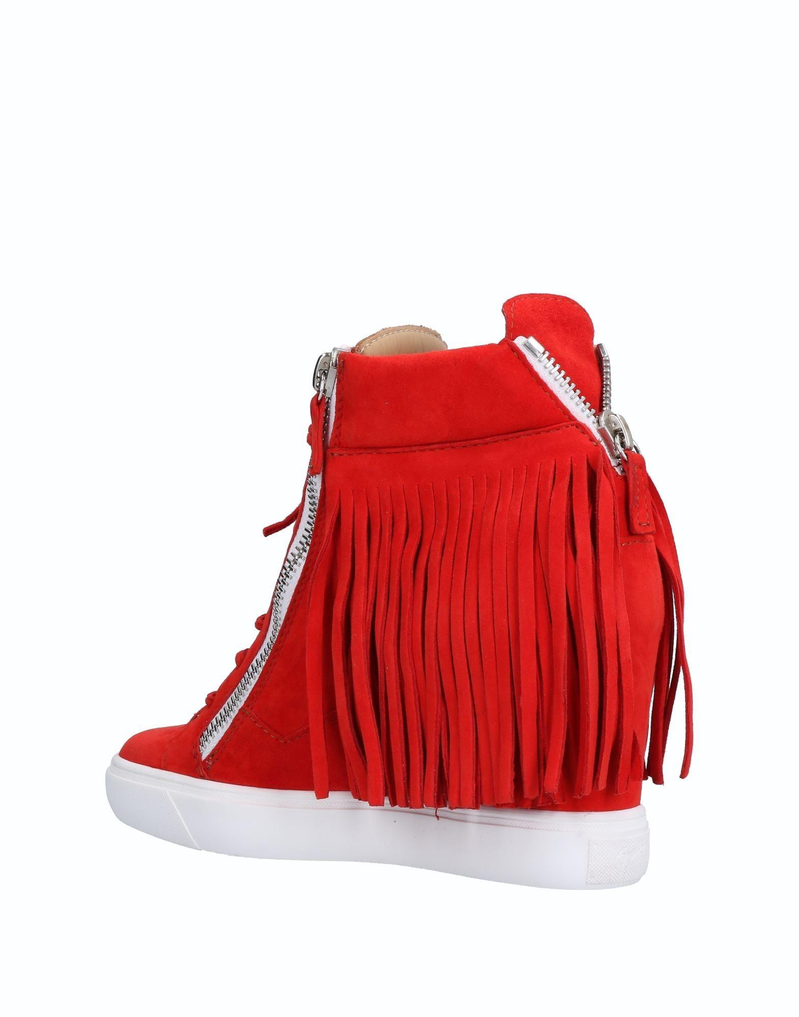Giuseppe Zanotti Rubber High-tops & Sneakers in Red