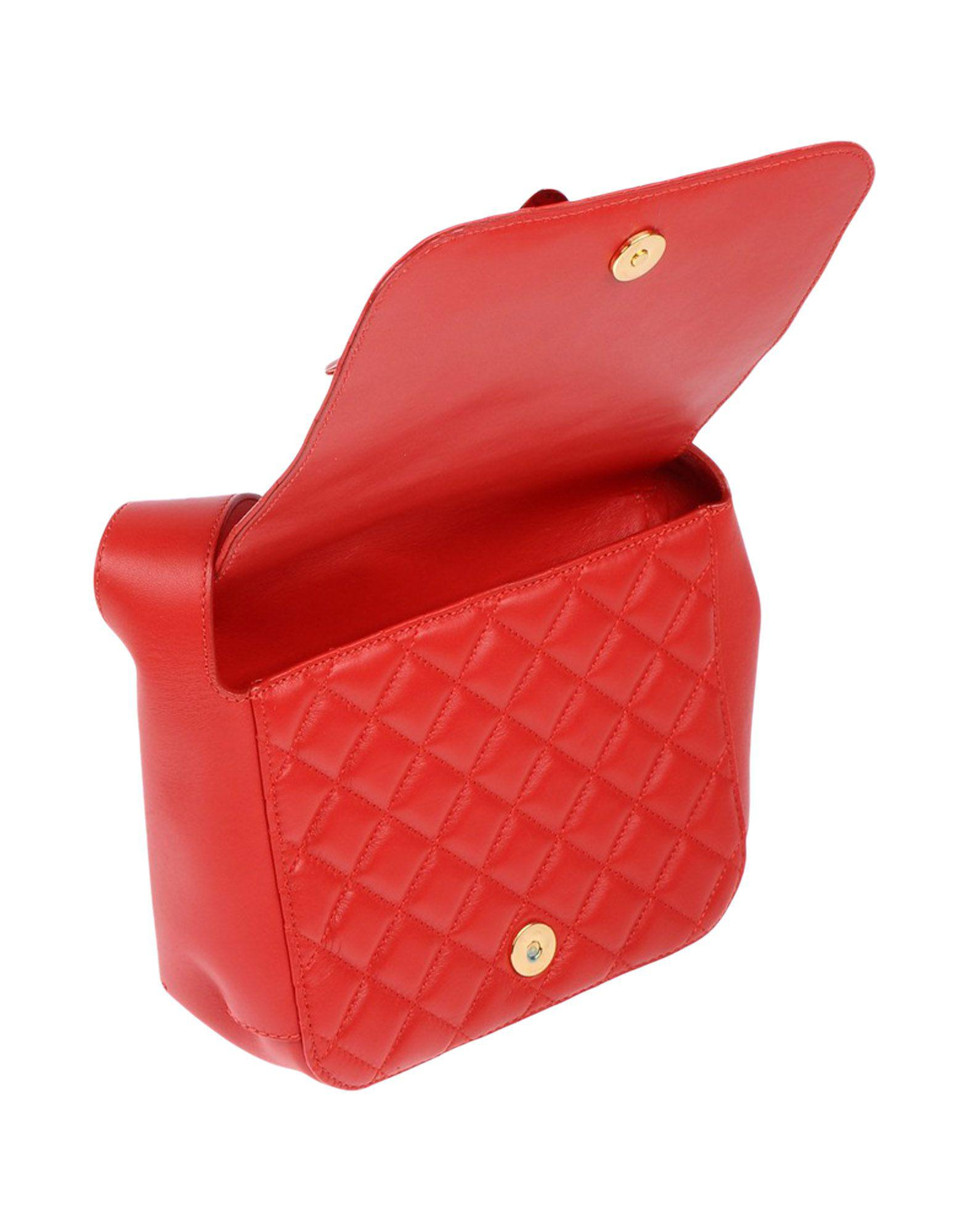 Boutique Moschino Leather Cross-body Bag in Red