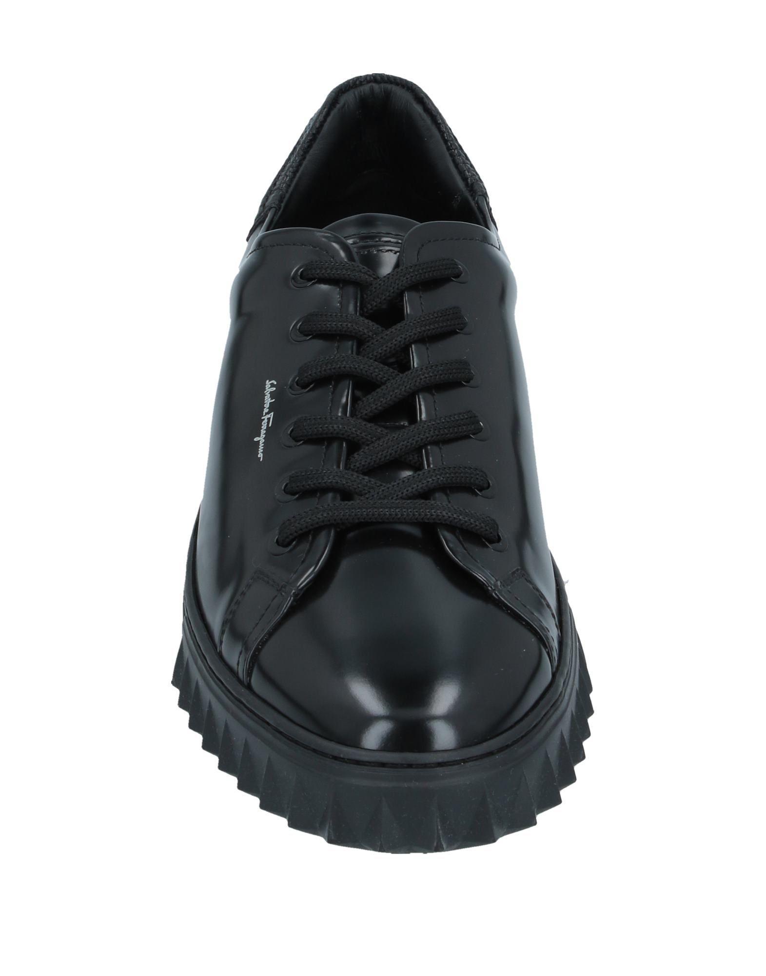 Sneakers & Tennis basses Cuir Ferragamo pour homme en coloris Noir TJx8