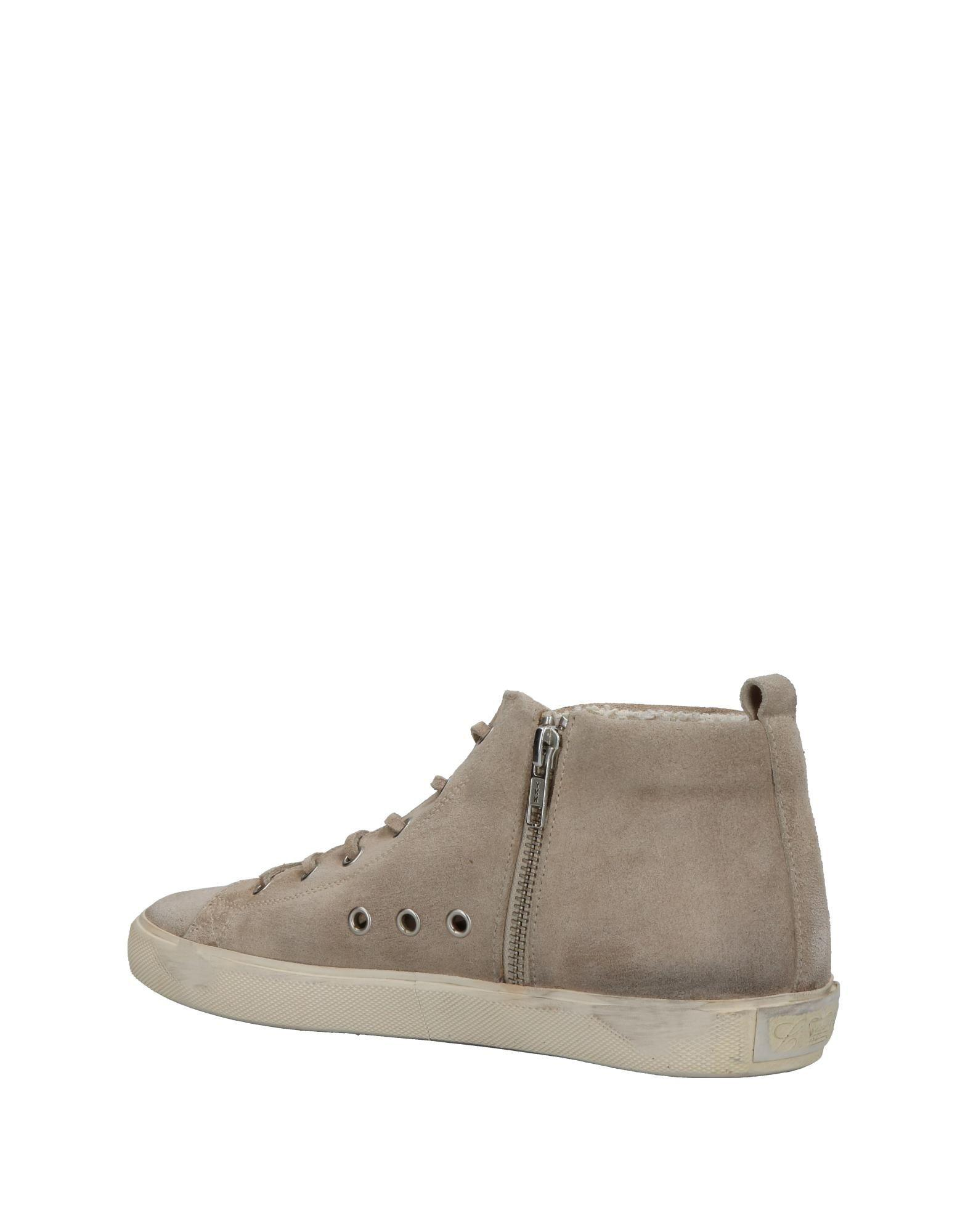 Leather Crown Leather High-tops & Sneakers in Grey