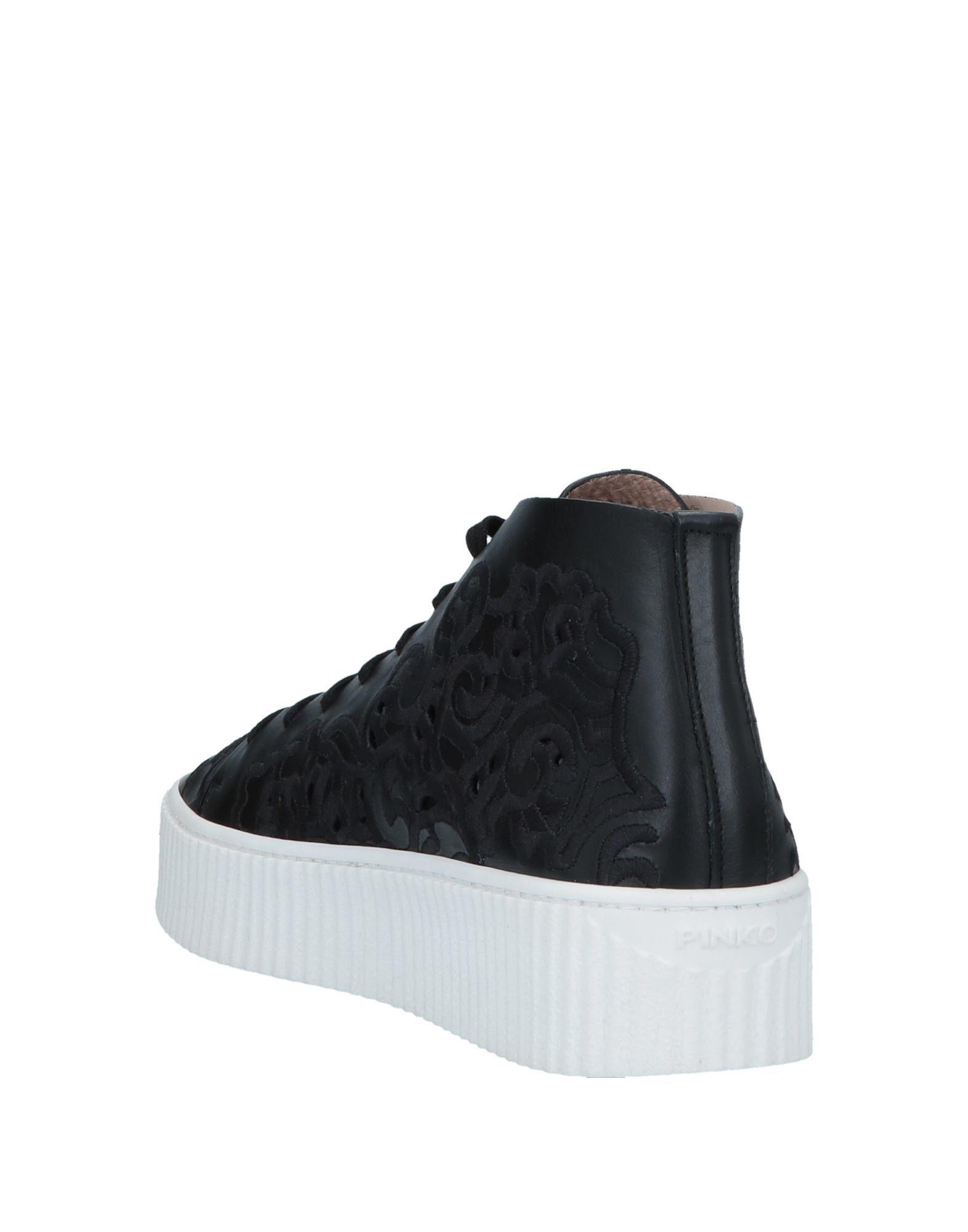 Sneakers abotinadas Pinko de Encaje de color Negro