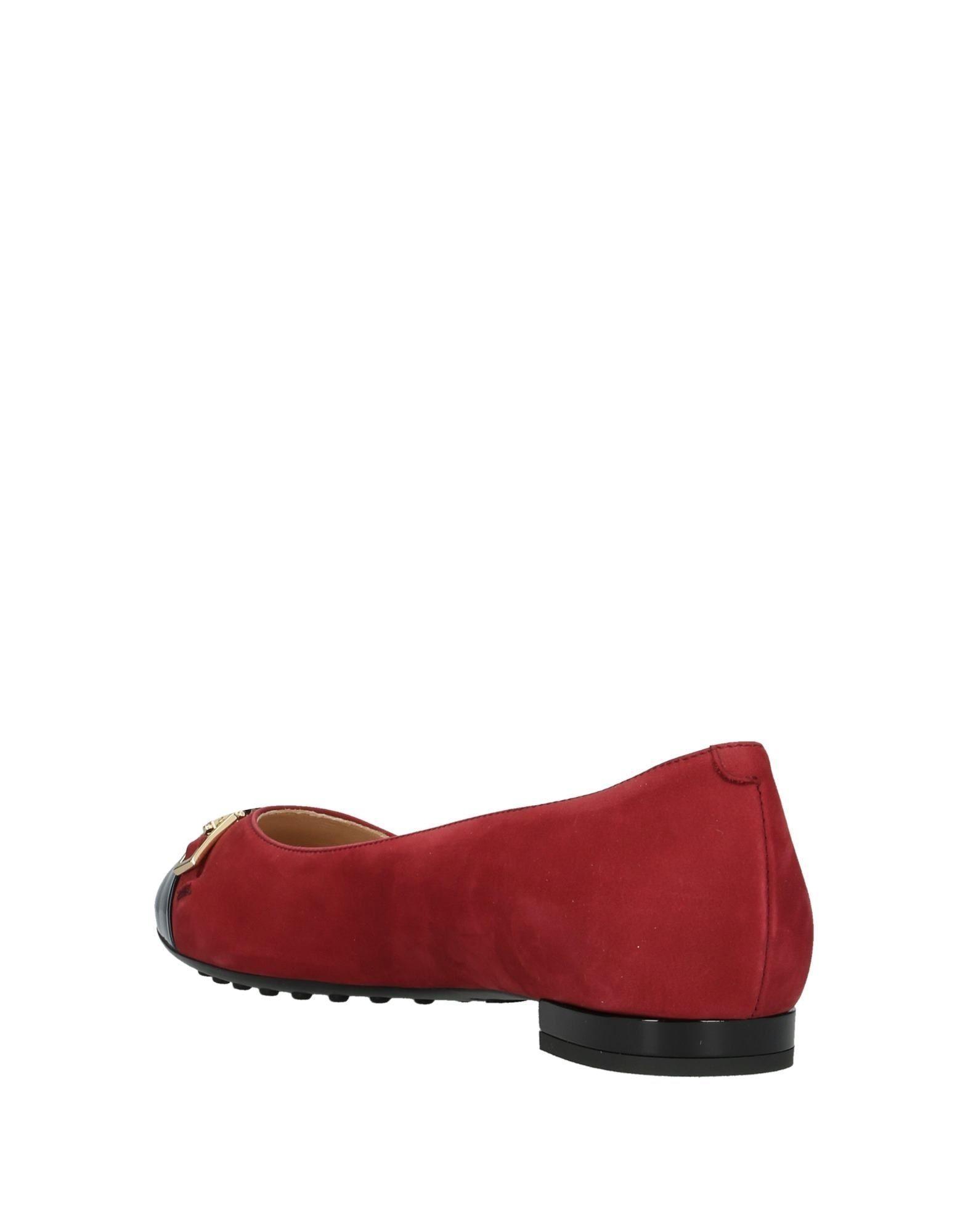 Bailarinas Tod's de Cuero de color Rojo